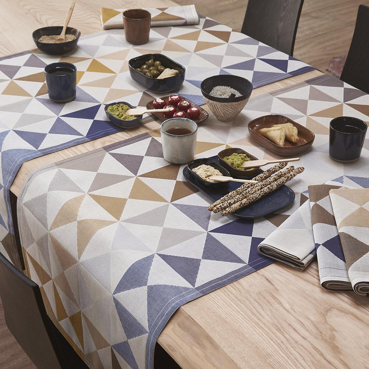Chemin de table en coton polychrome 50 x 150