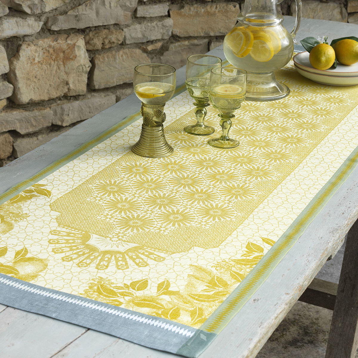 Chemin de table en lin cedrat 50 x 200