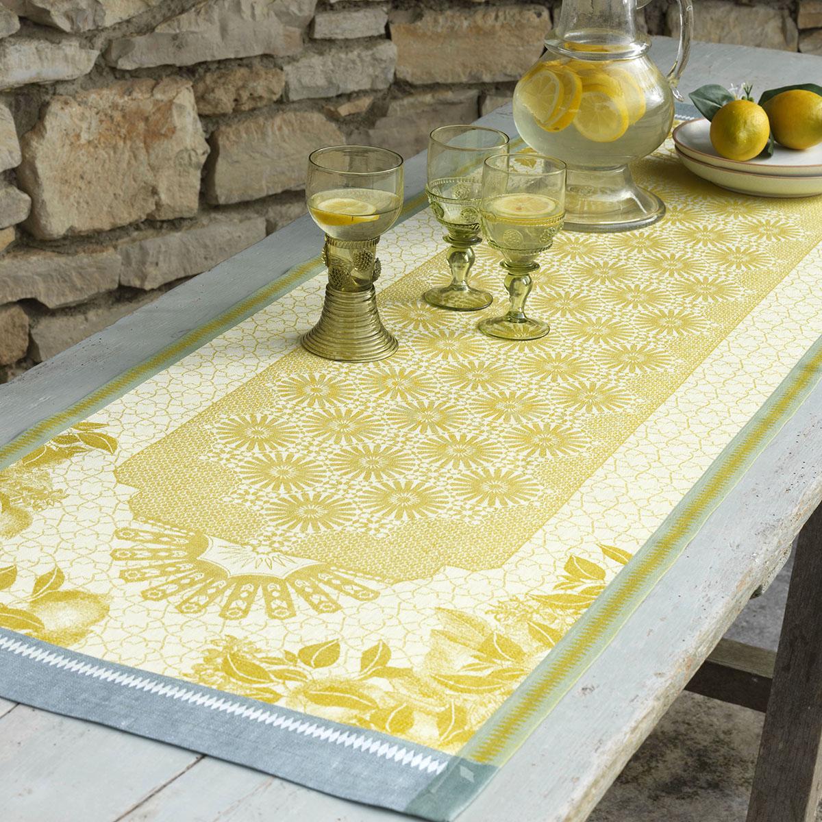 Chemin de table en lin cedrat 50 x 150