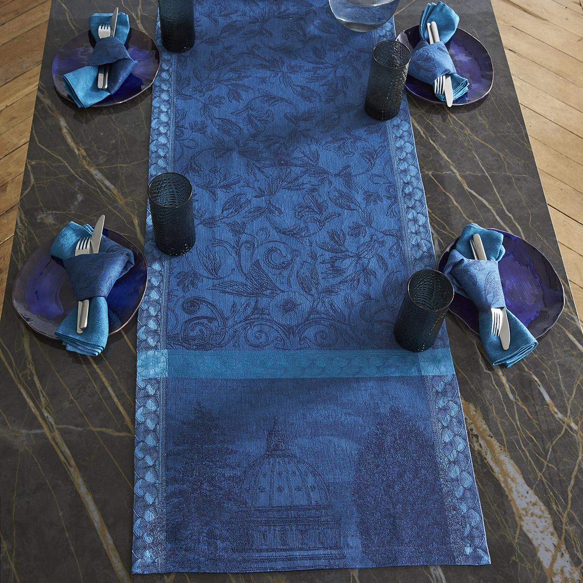 Chemin de table en lin crepuscule 50 x 150