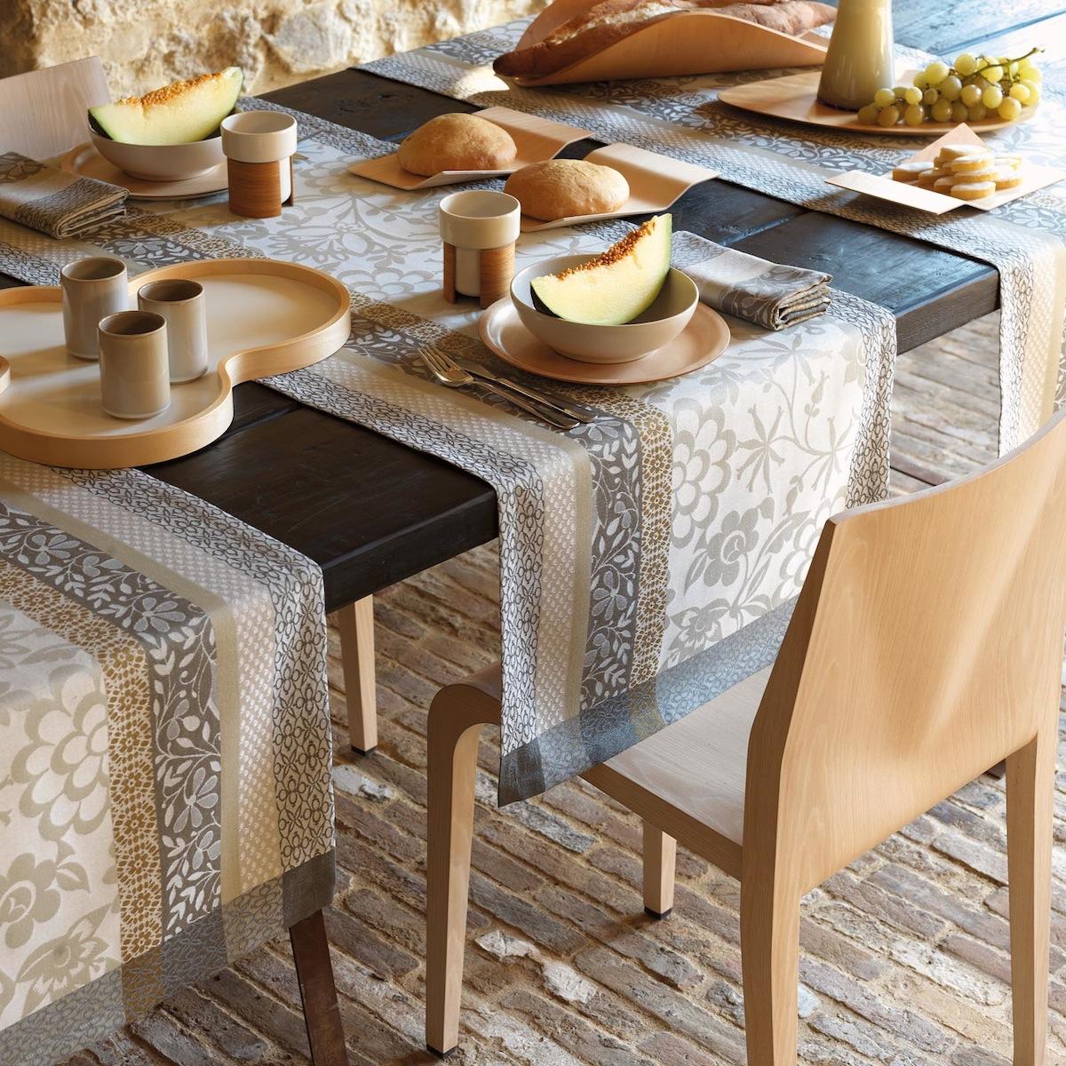 Chemin de table en coton calisson 55 x 200