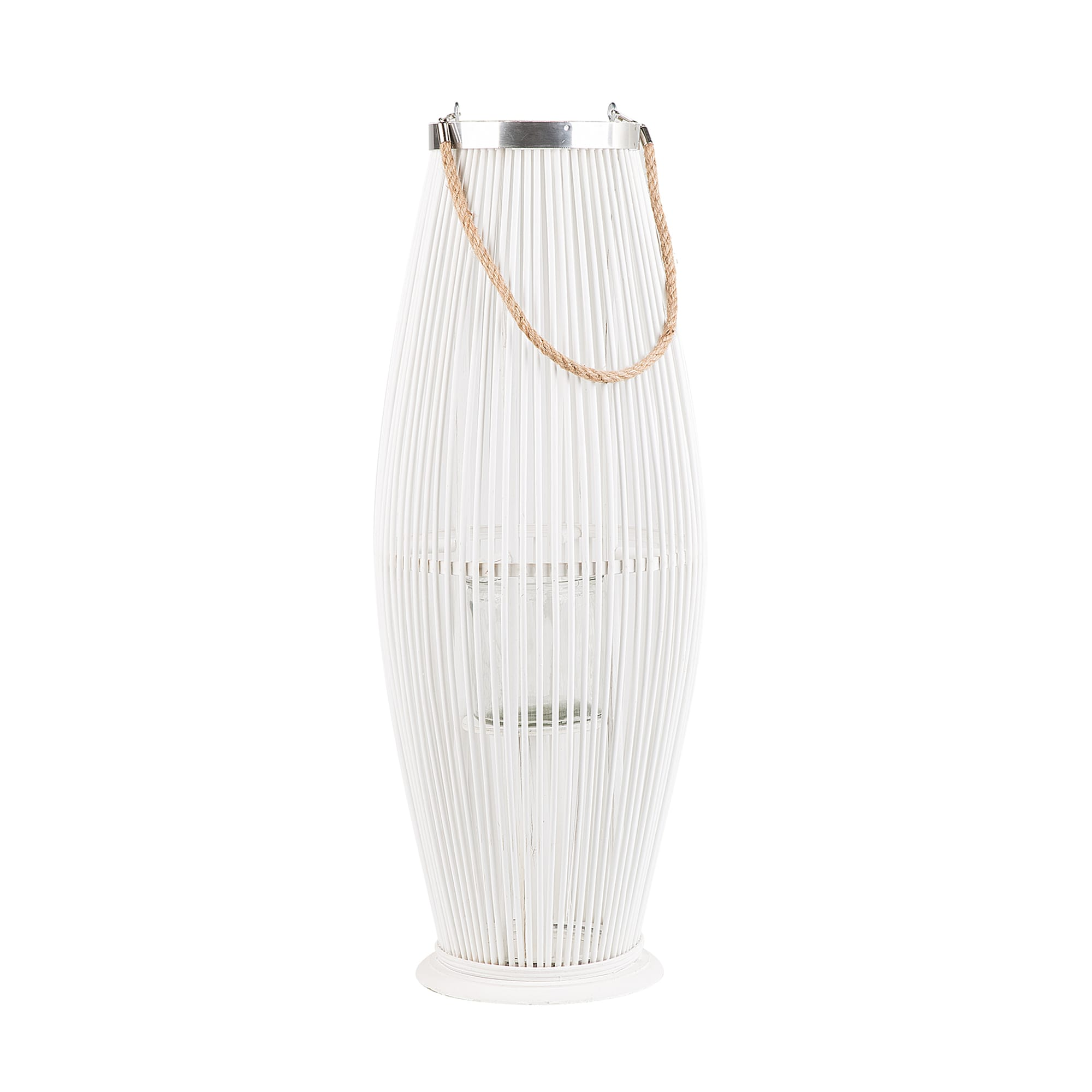 Lanterne blanche 72 cm
