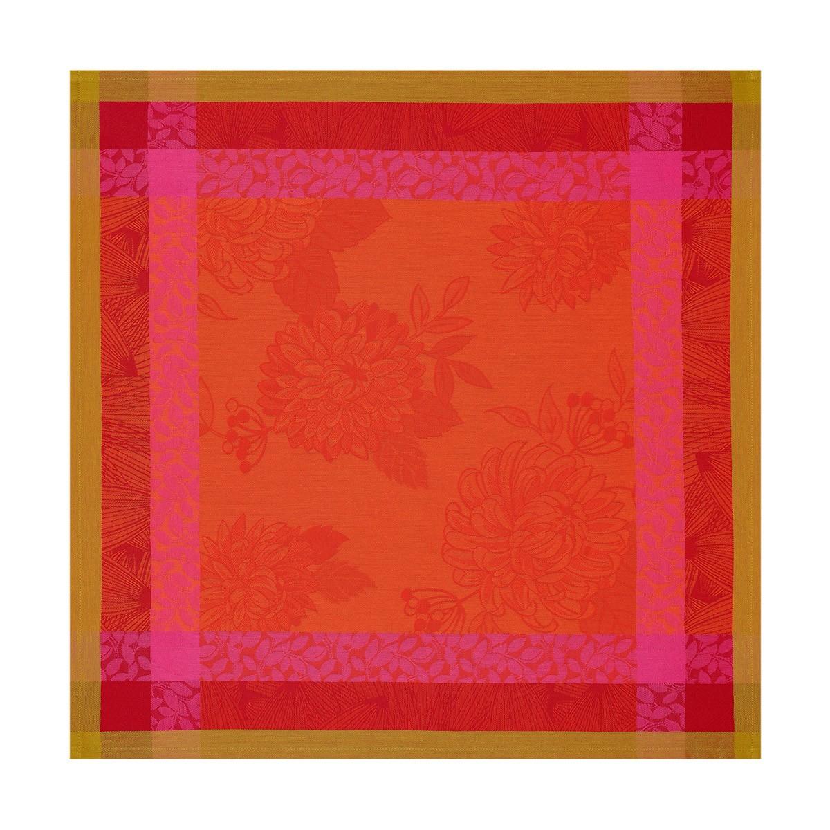 Serviette en coton capucine 58 x 58