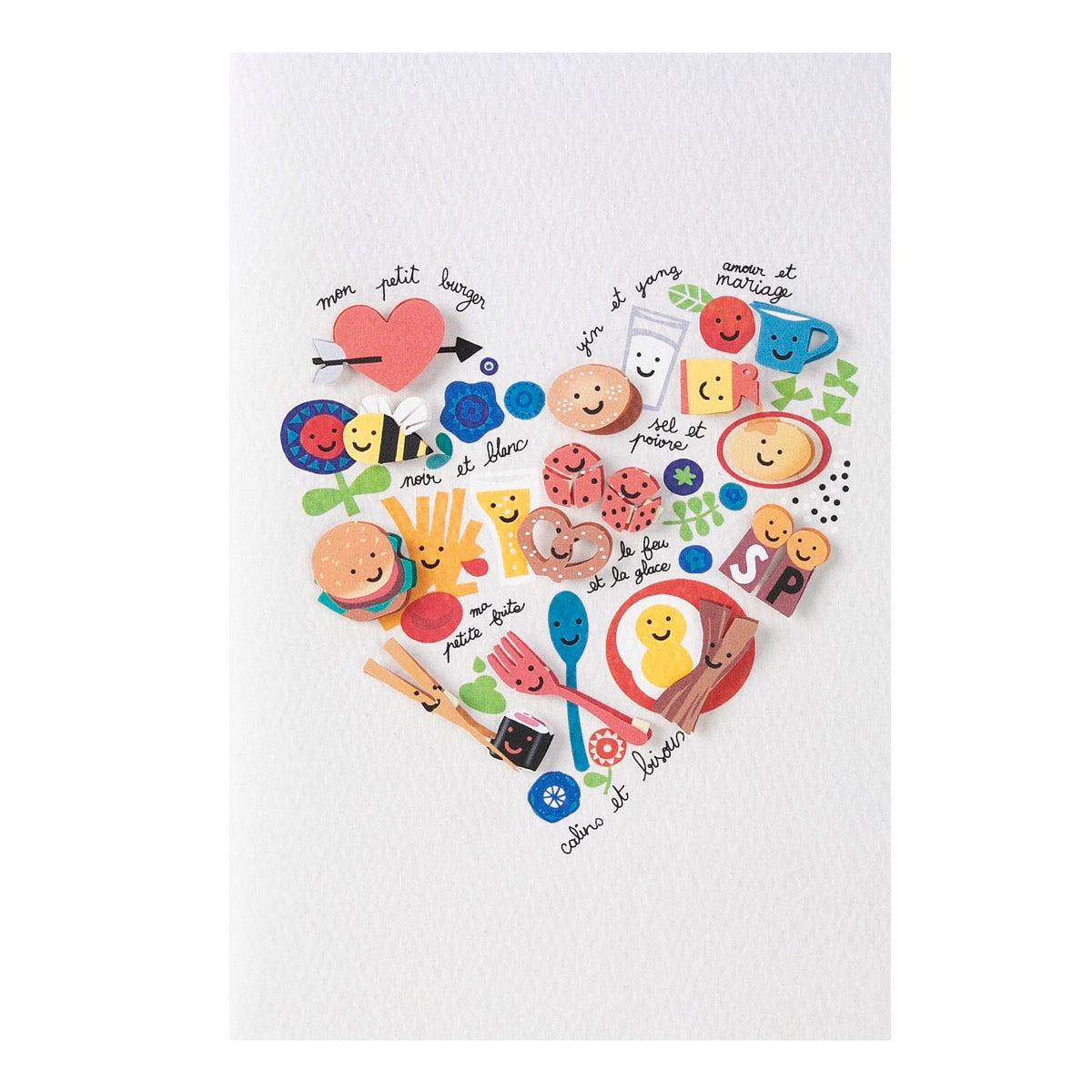 Carte amour recette d'amour