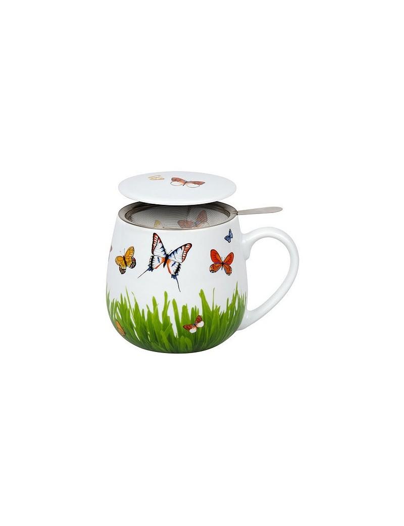 Mug snuggle avec filtre et couvercle papillon 420ml