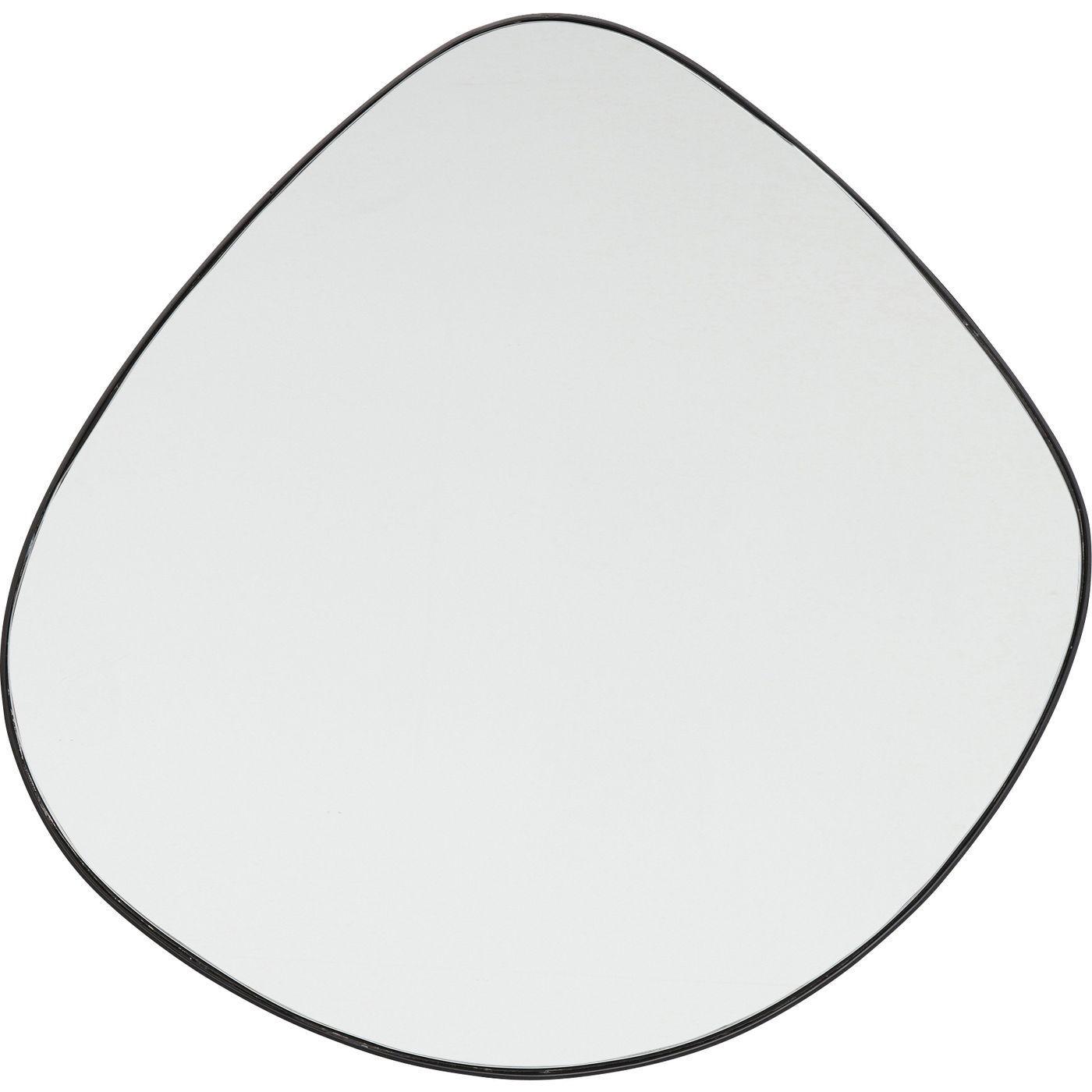 Miroir en métal noir 90x93