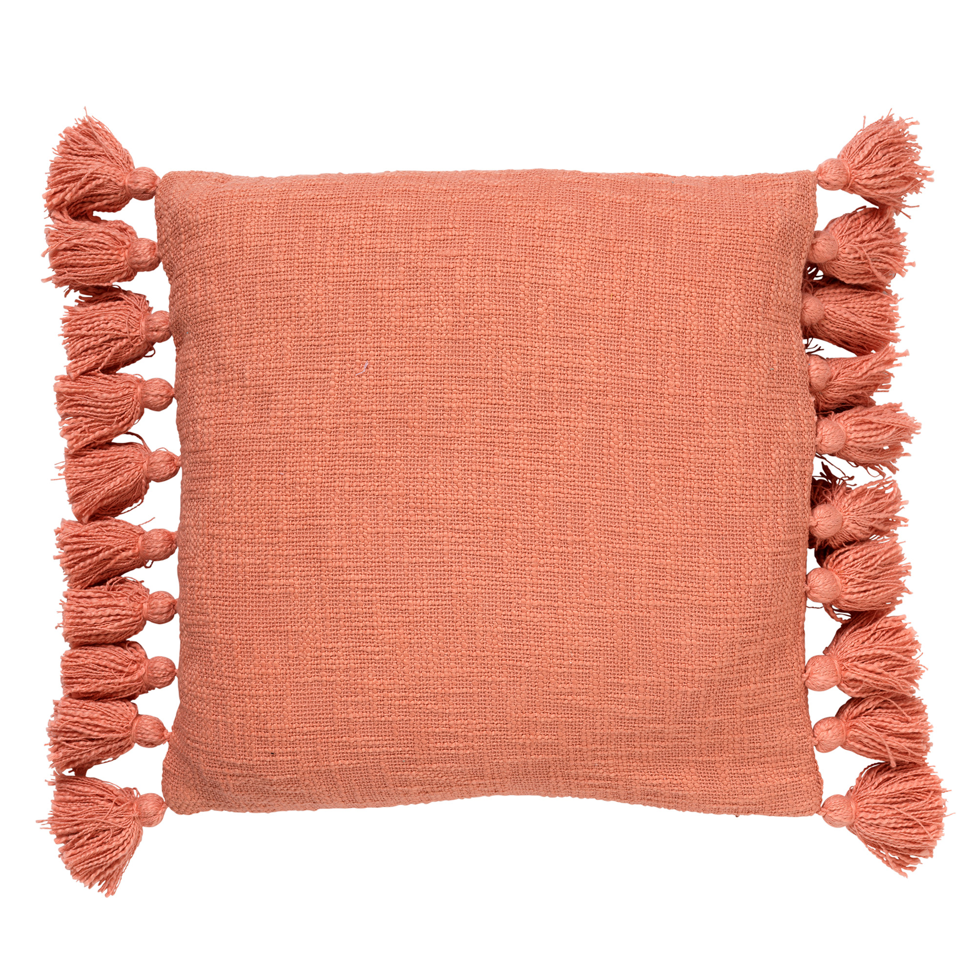 Housse de coussin en coton Rose saumon 45x45