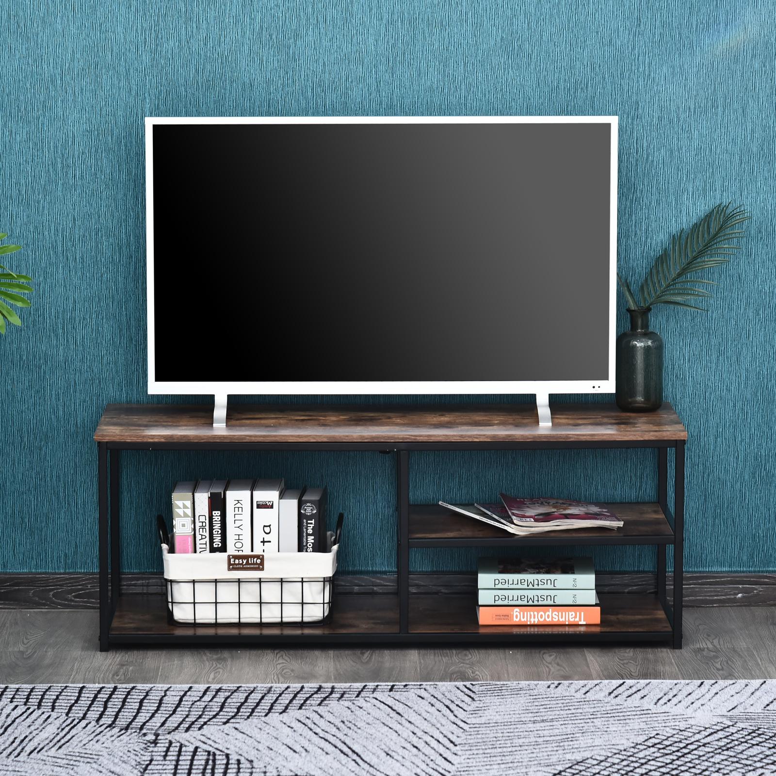 Meuble TV design industriel 2 étagères
