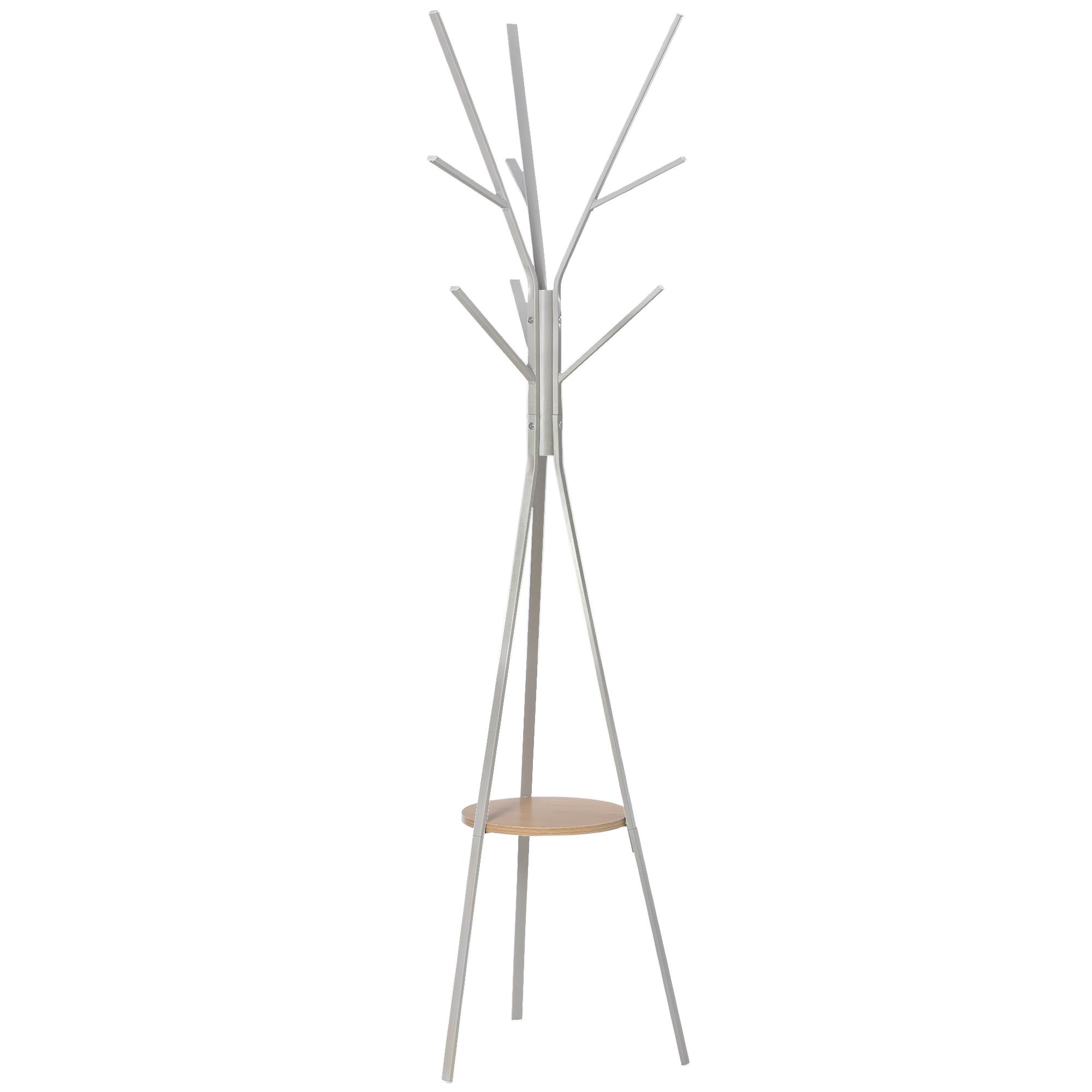 Porte-manteau design branches blanc