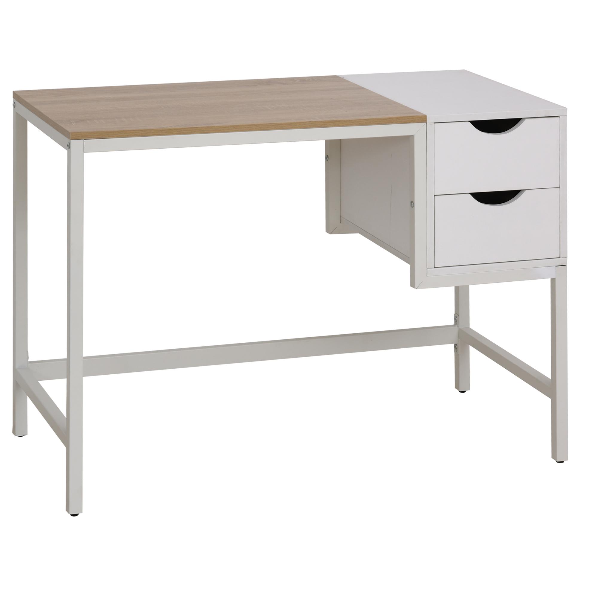 Bureau avec pieds en métal beige