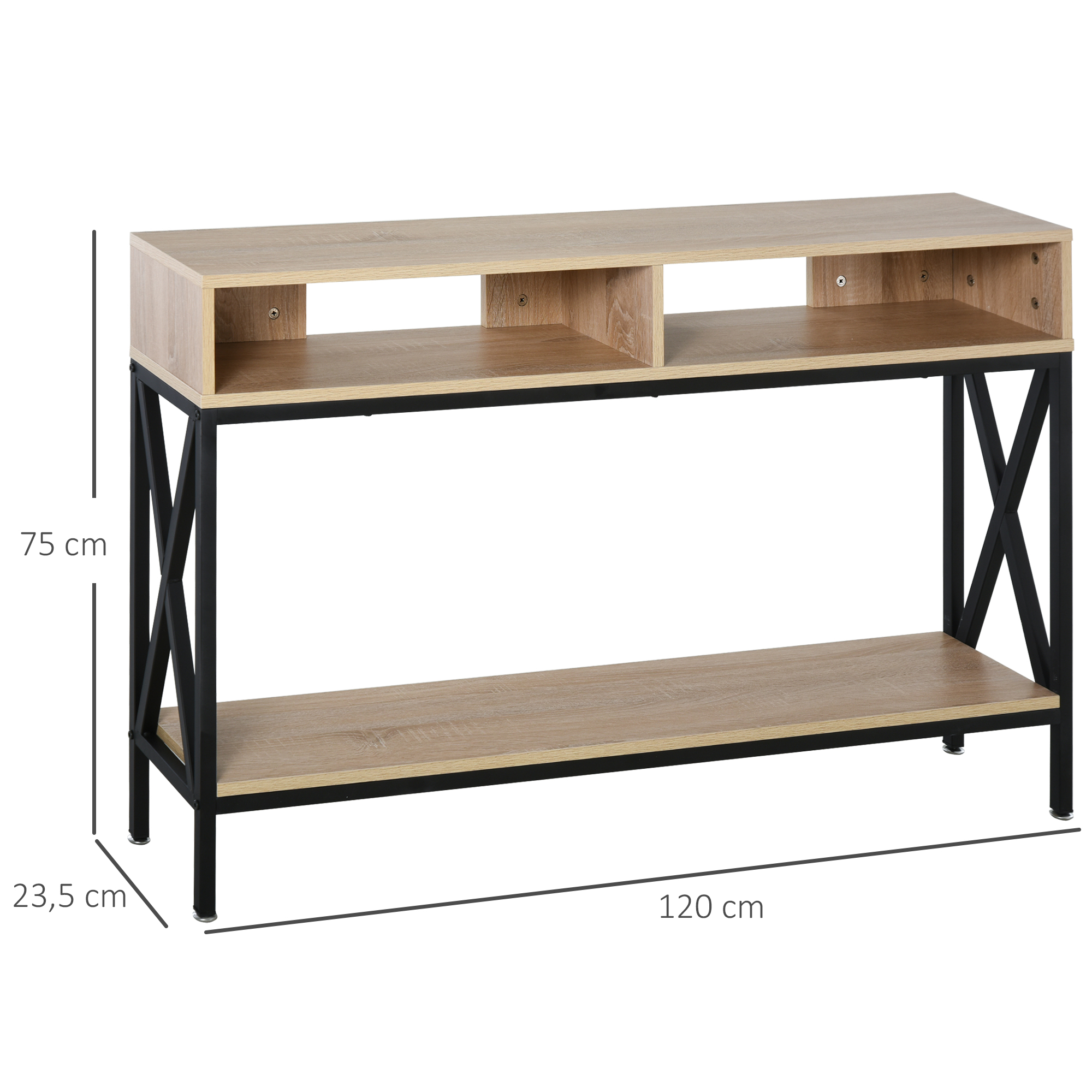 Table console industriel