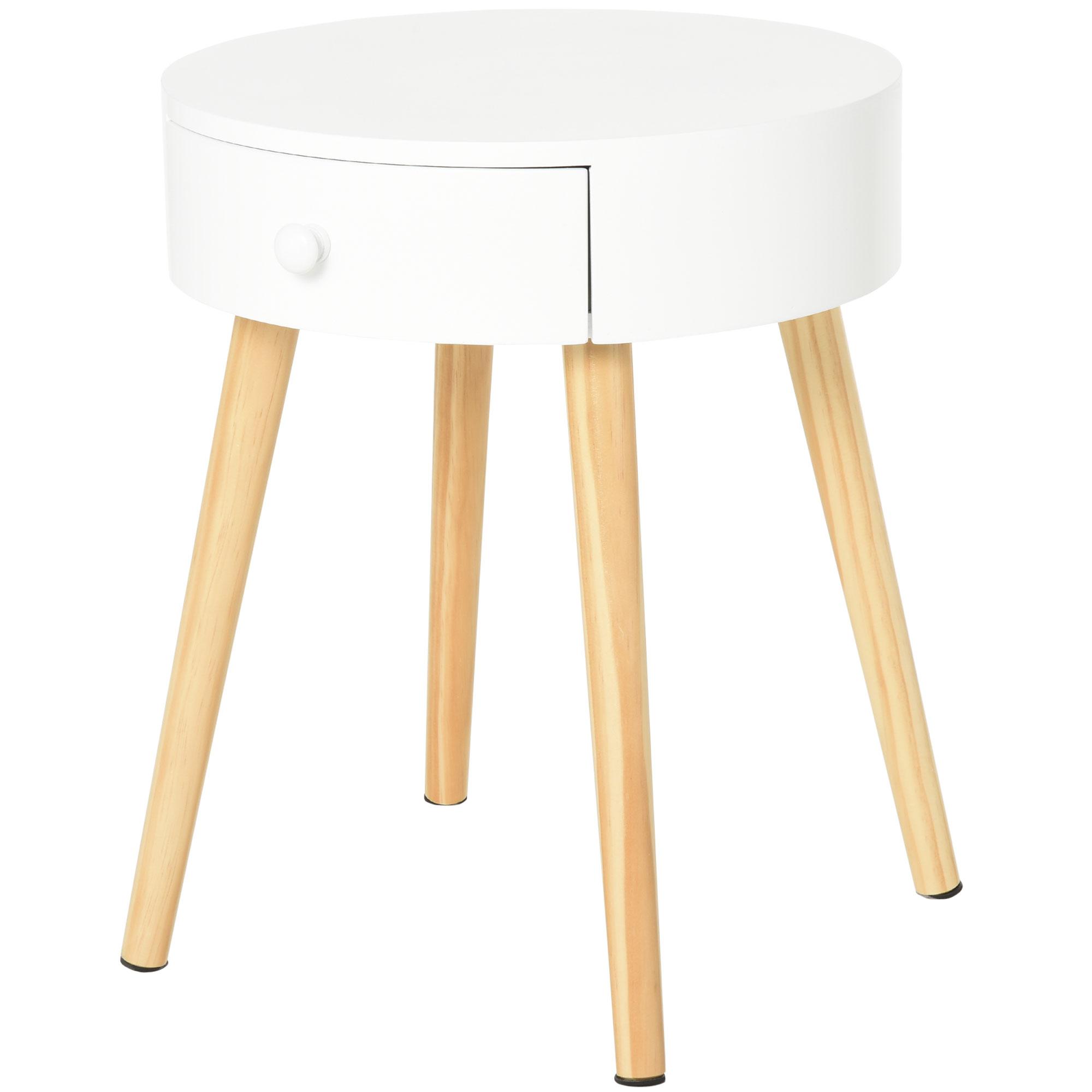 Chevet table de nuit ronde design scandinave (photo)
