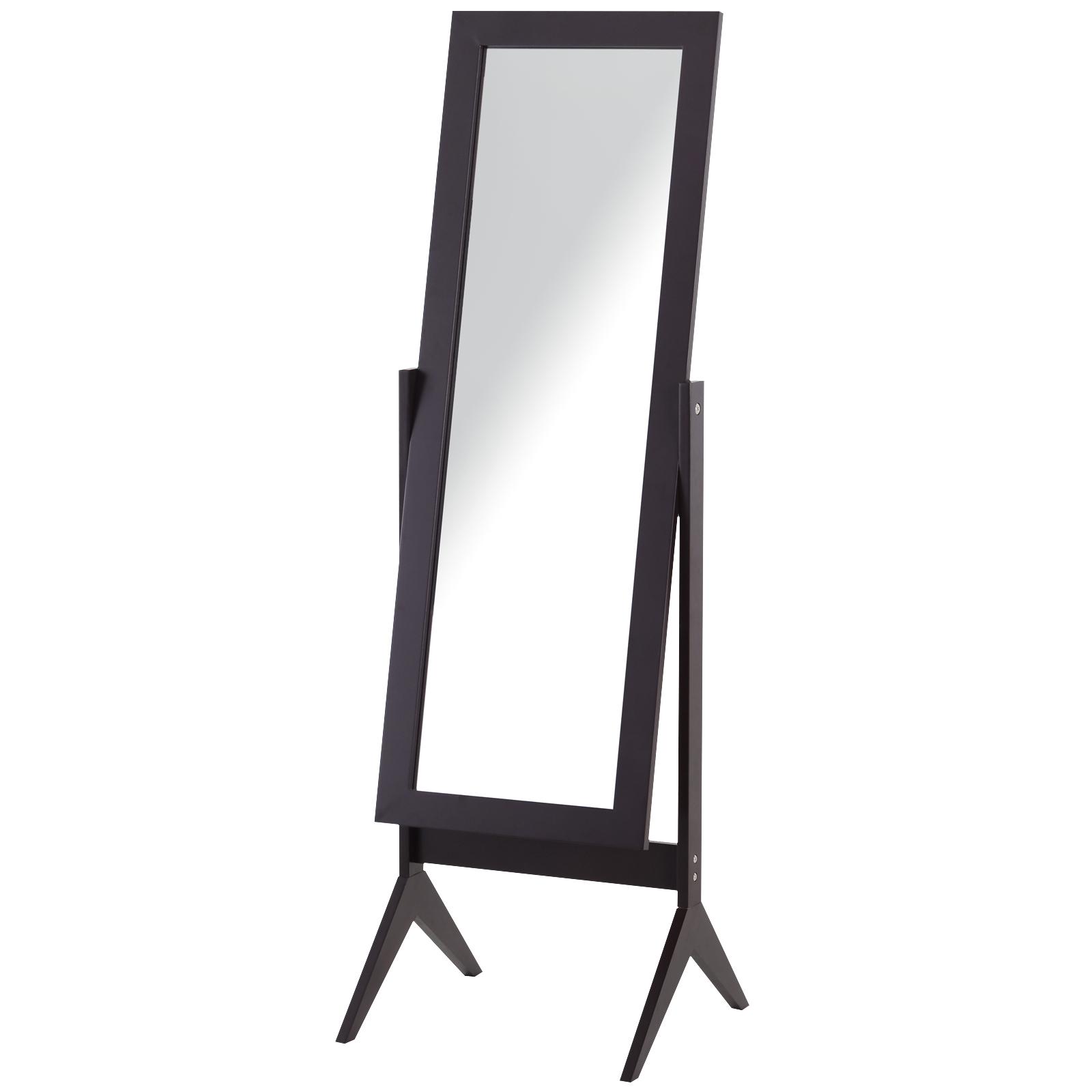 Miroir à pied inclinaison réglable brun foncé H148 cm