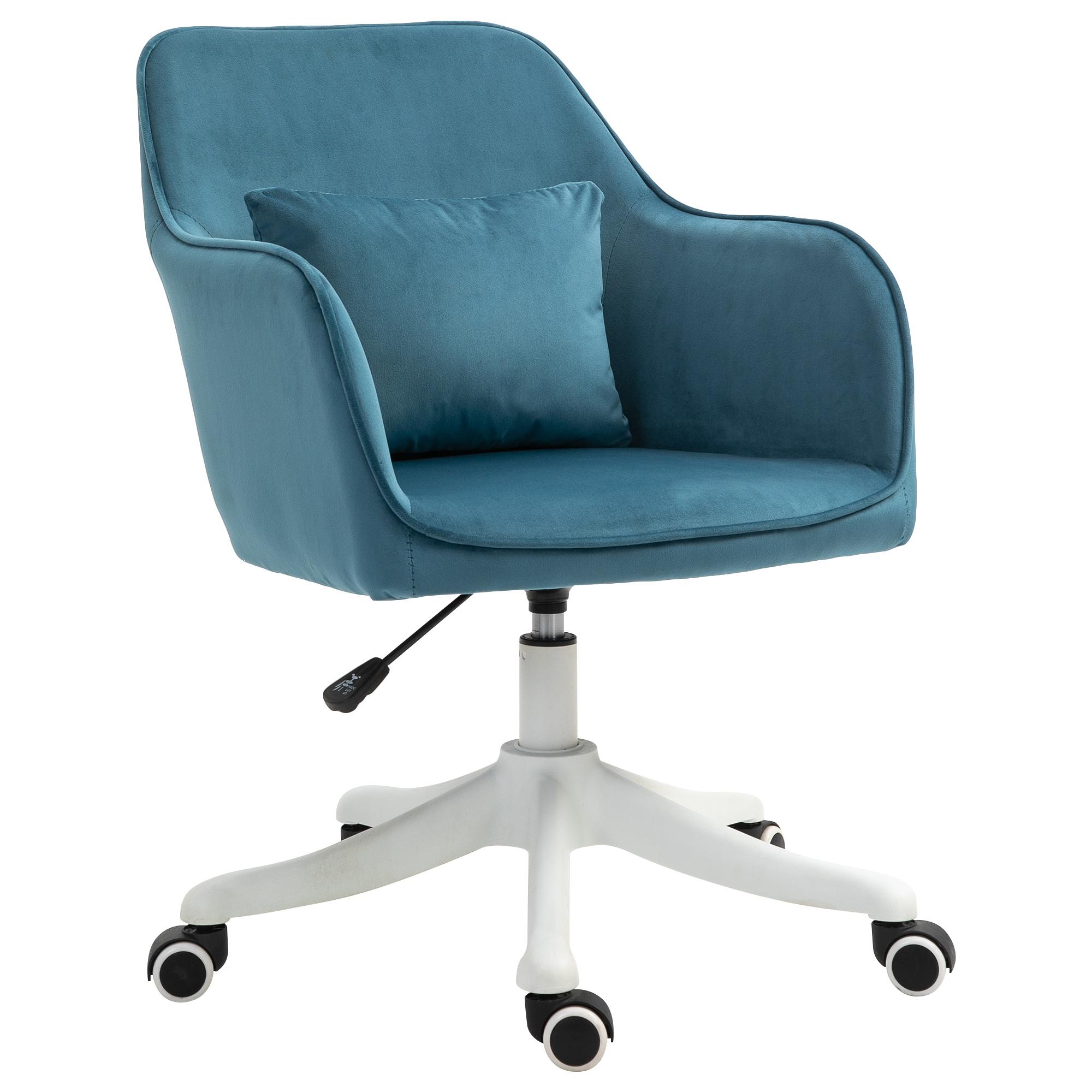Chaise de bureau massante velours