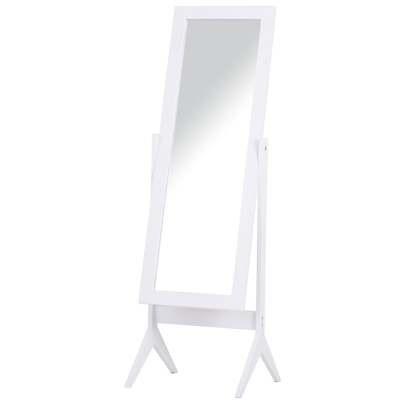 Miroir à pied inclinaison réglable blanc H148cm
