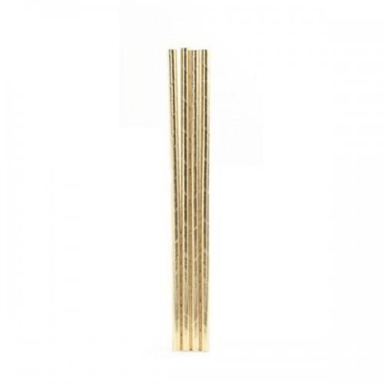 Pailles en papier dorées - Lot de 144