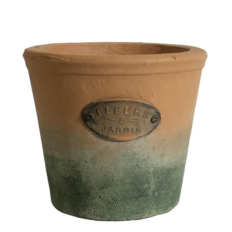 Cache-pot rond en terre cuite D14