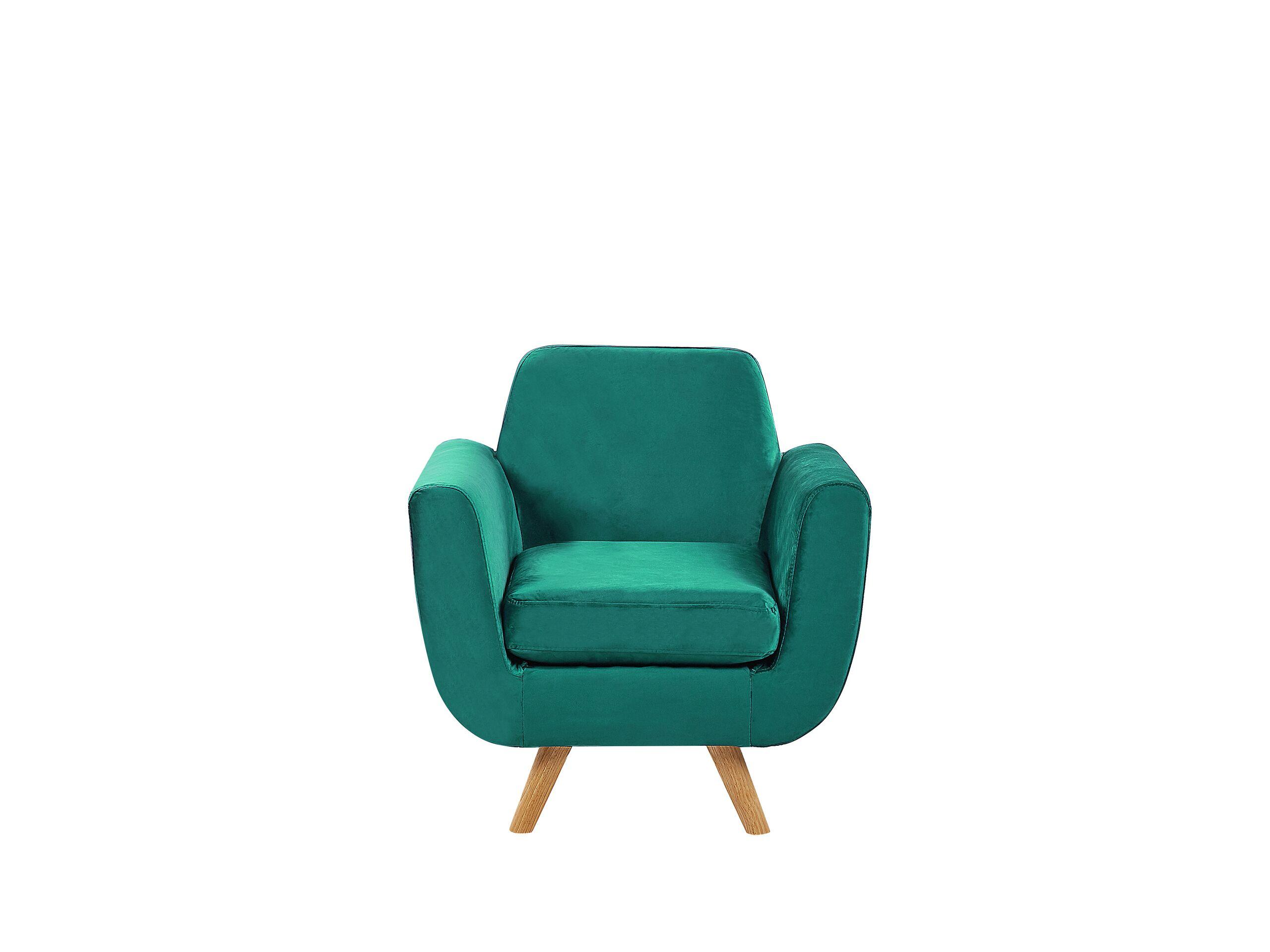 Housse en velours vert pour fauteuil