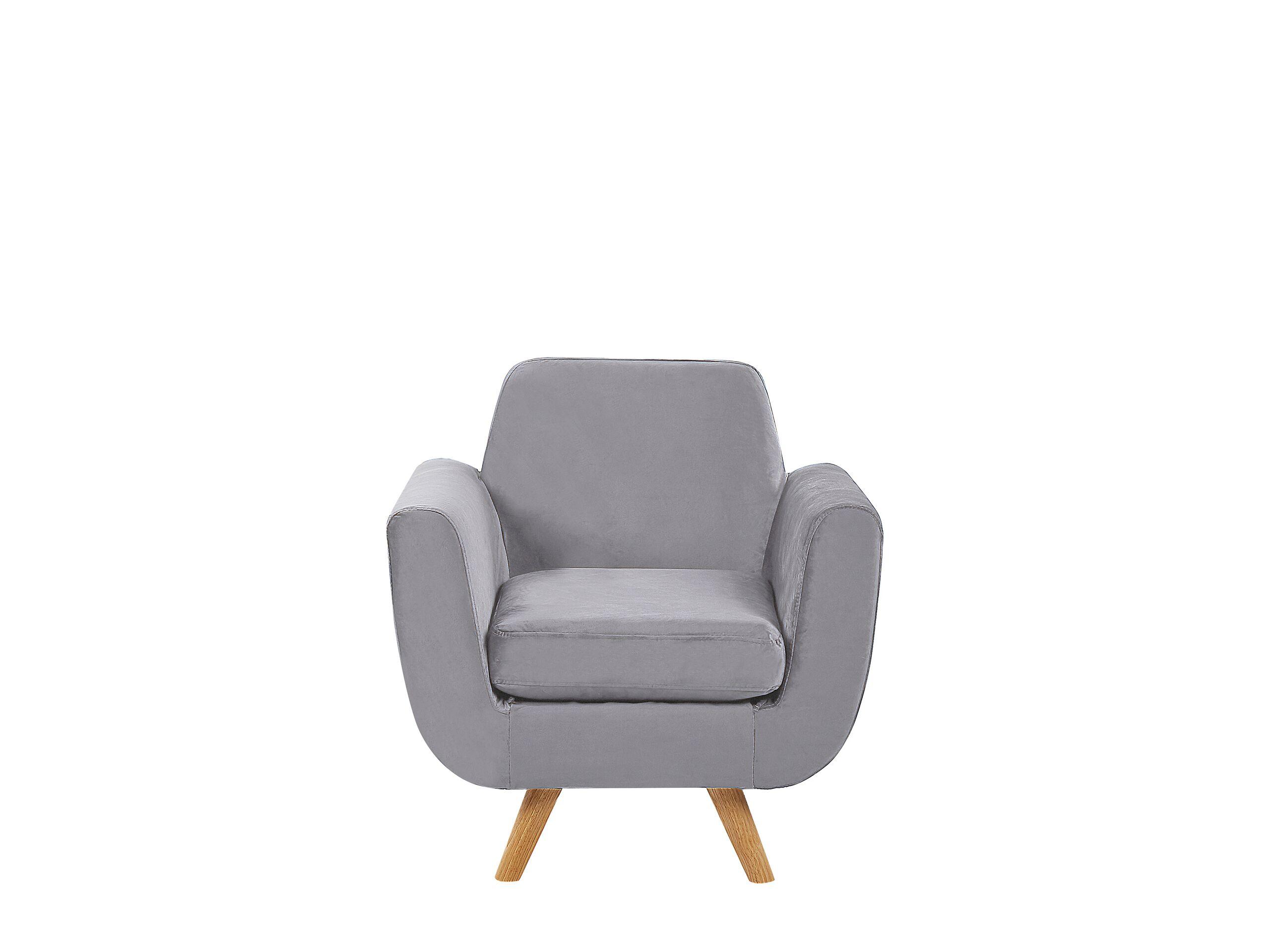 Housse en velours gris pour fauteuil