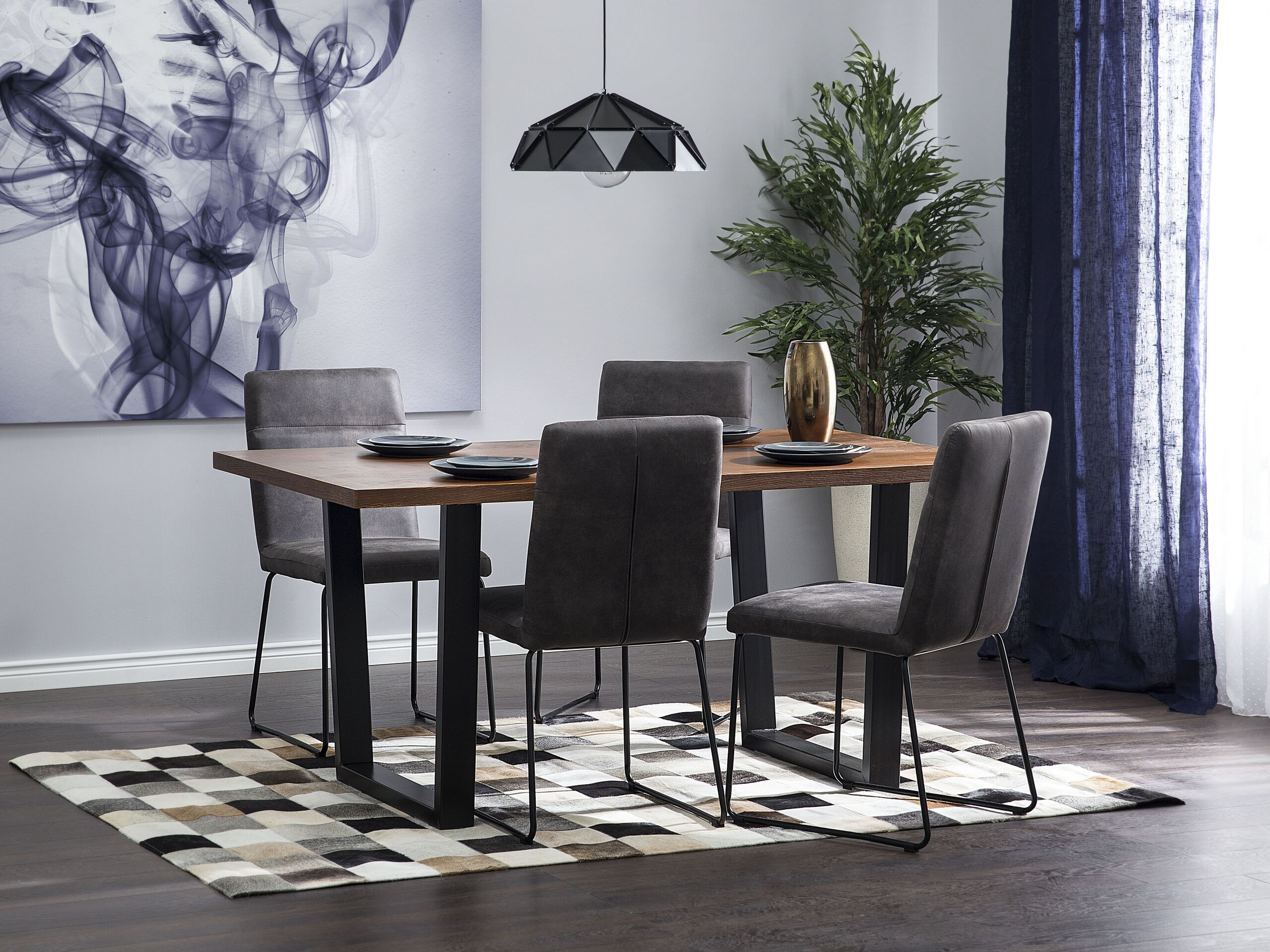 Table de salle à manger en bois 6 places