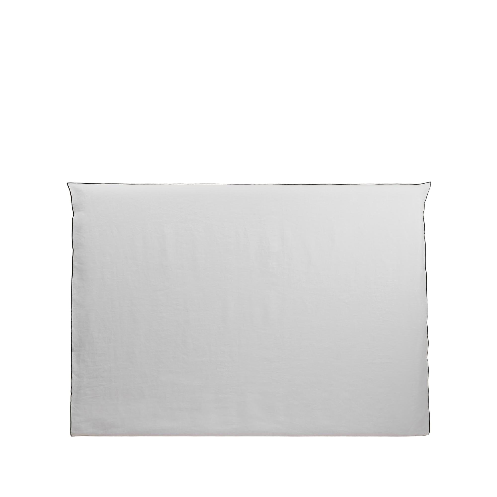 Housse de tête de lit 190x134 cm Blanc et bourdon noir