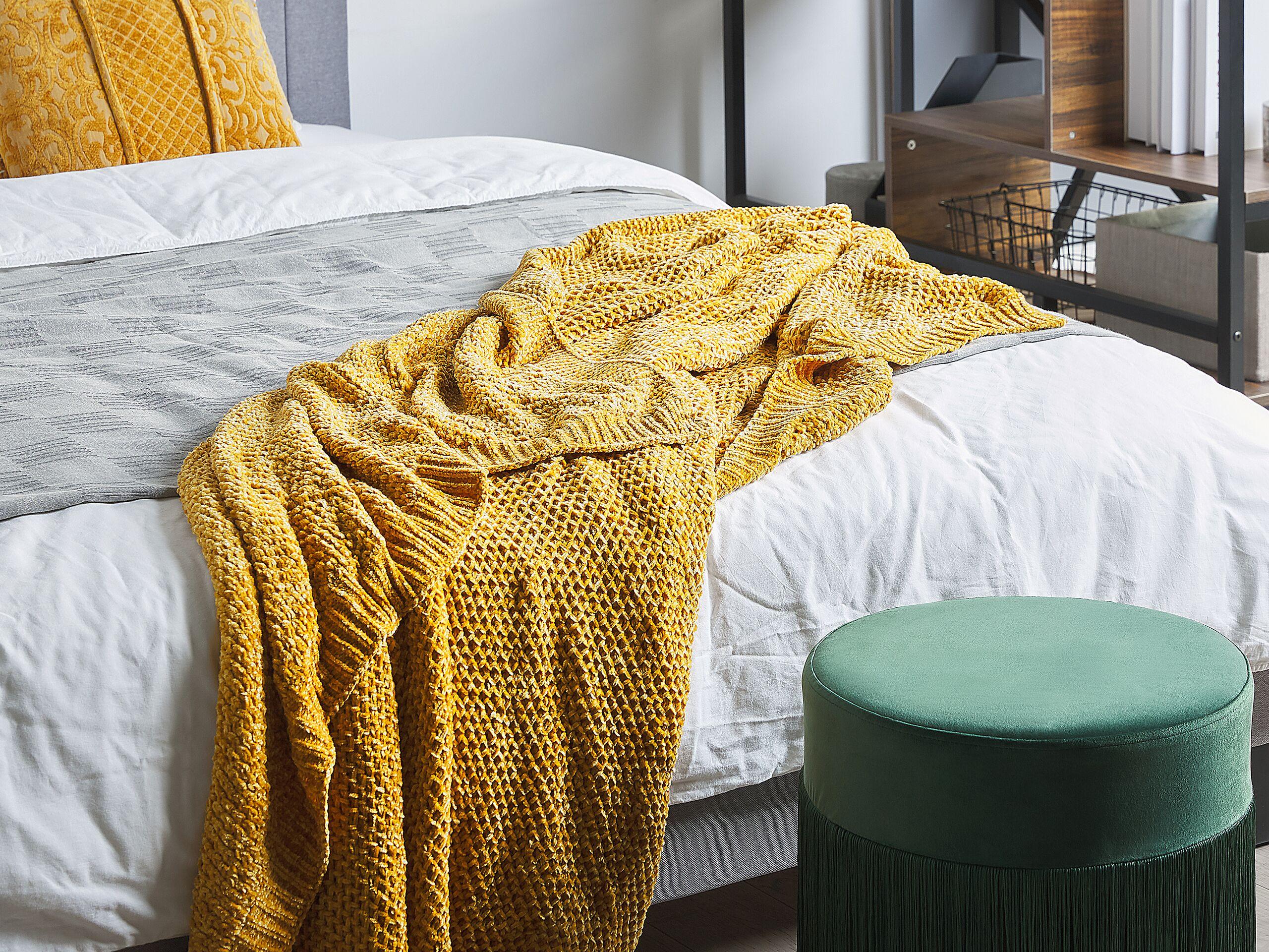 Plaid jaune 150 x 200 cm