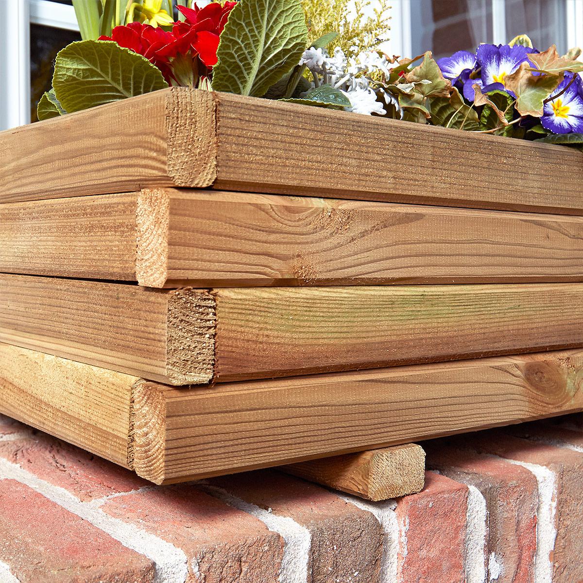 Jardinière rectangulaire 70cm en pin traité