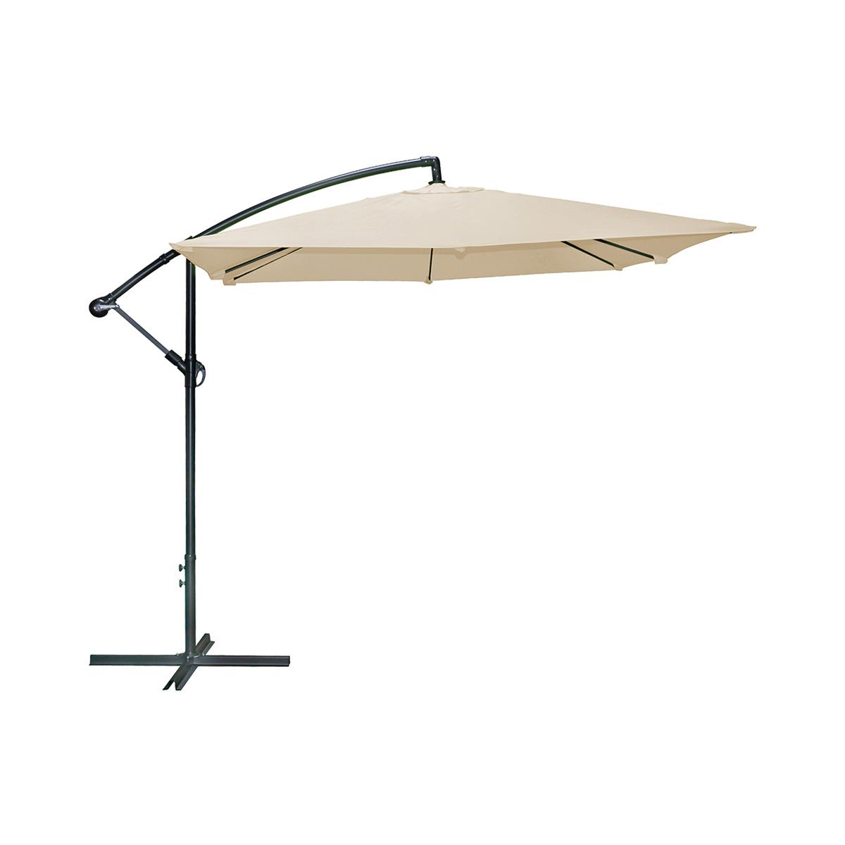 Parasol carré sable polyester