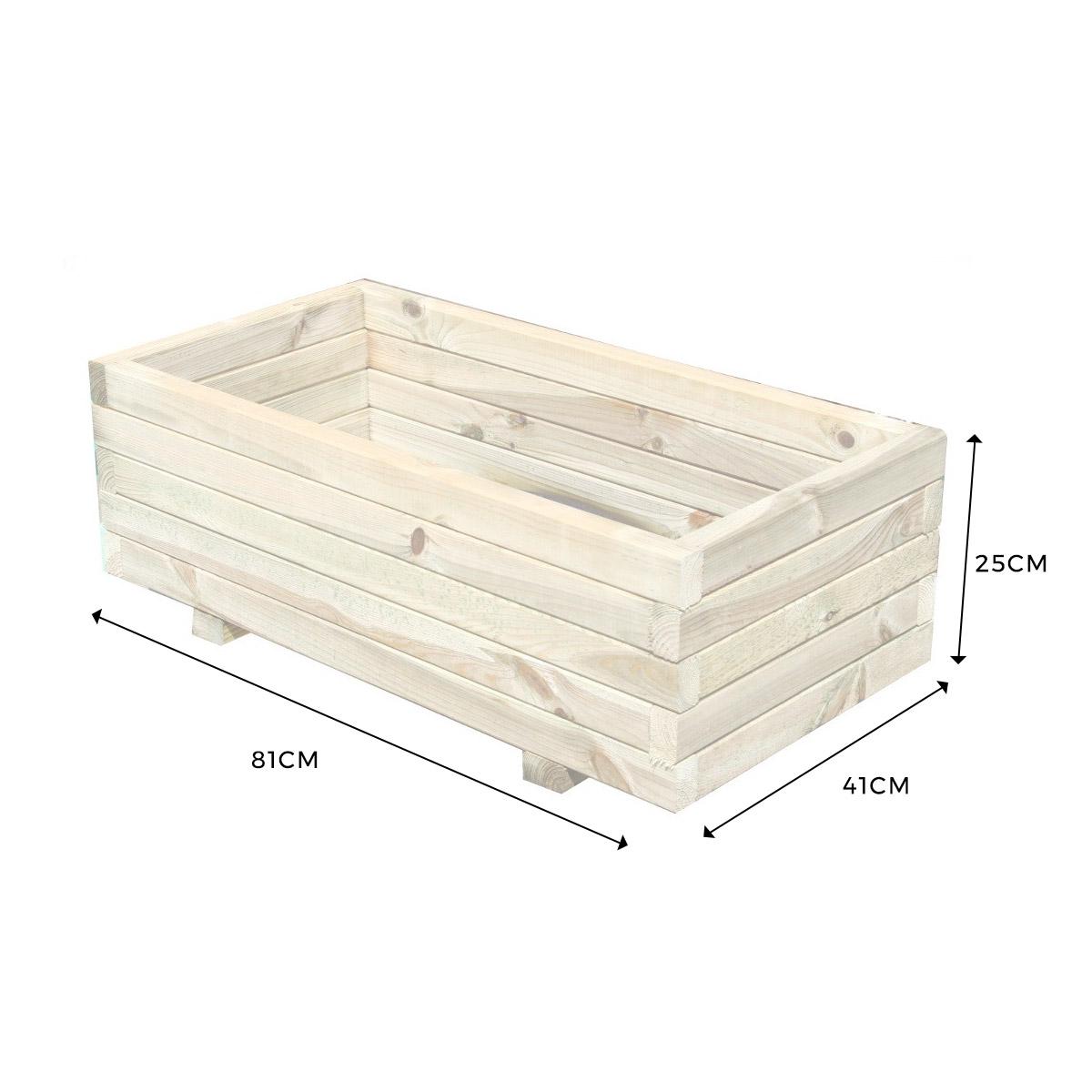Jardinière rectangulaire 80cm en pin traité