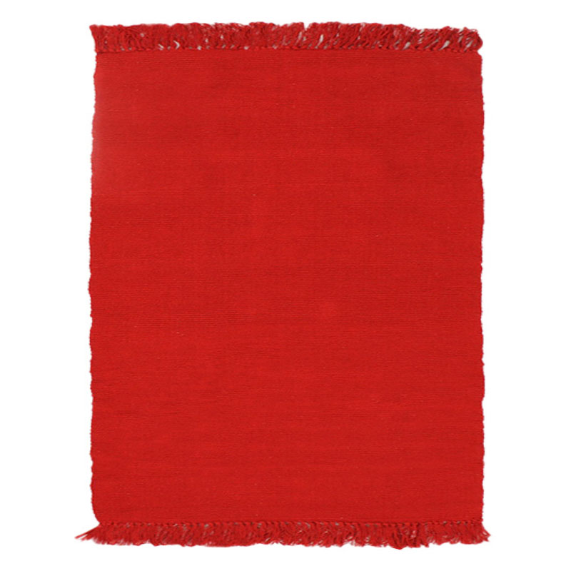Tapis 100% coton rouge 150x200