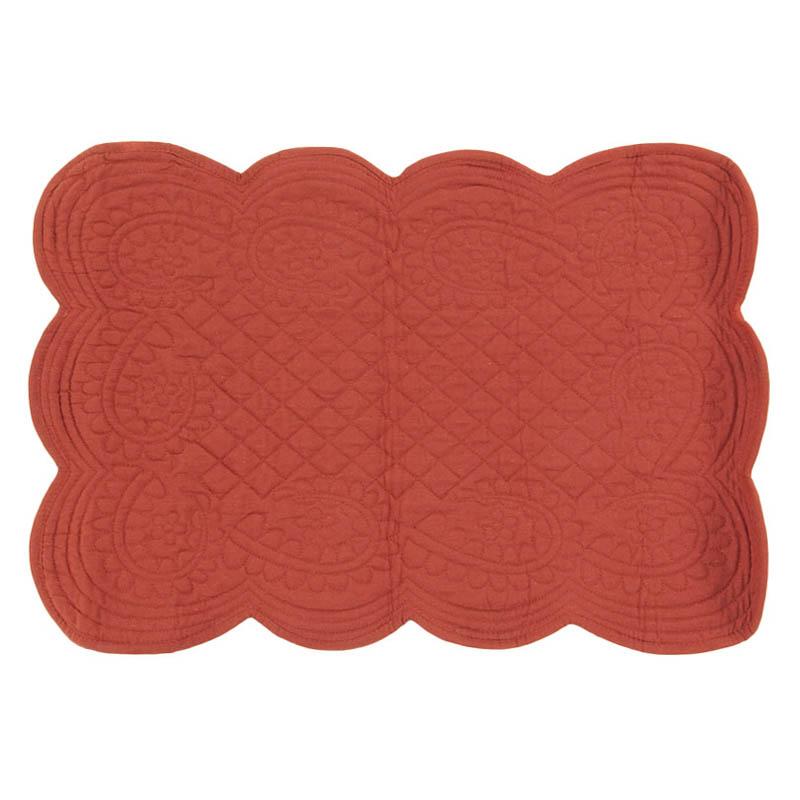 Set de table 100% coton terre de sienne 36x50