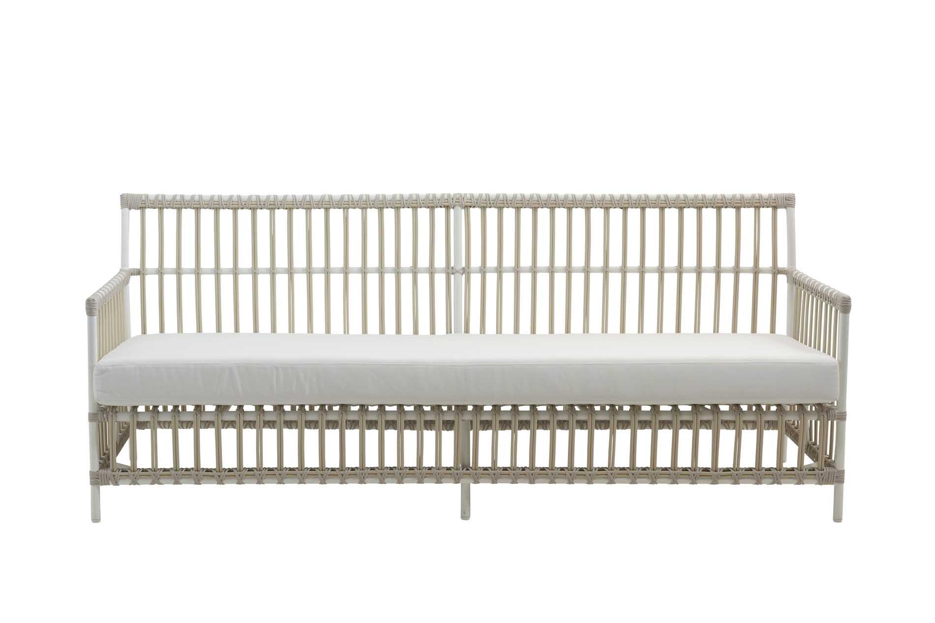 Canapé 3 places en aluminium et fibre synthétique blanc