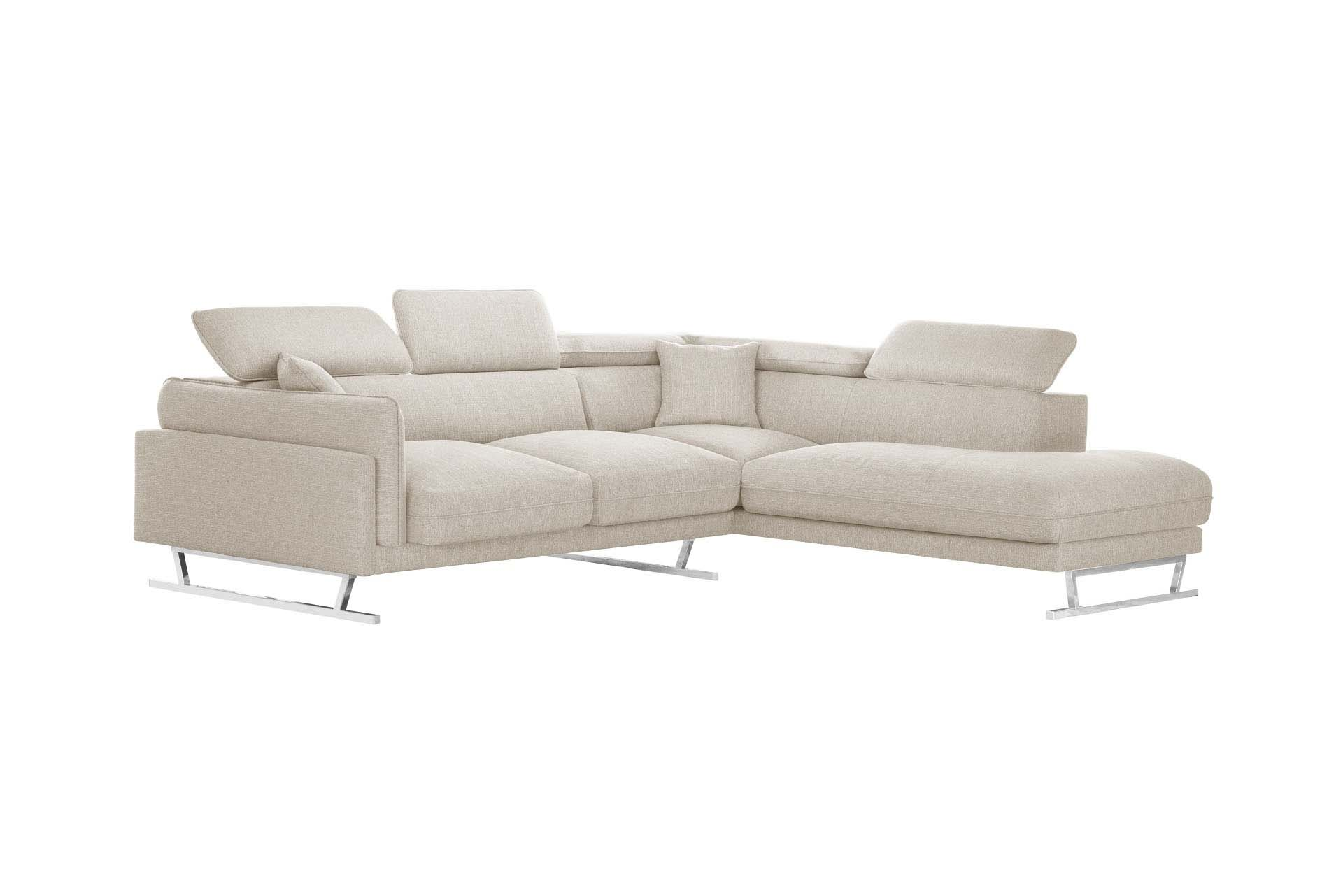 Canapé d'angle 6 places Tissu Luxe Design Confort
