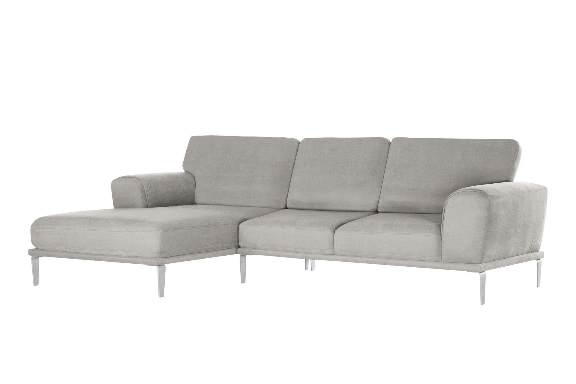 Canapé d'angle 5 places Gris Luxe Design
