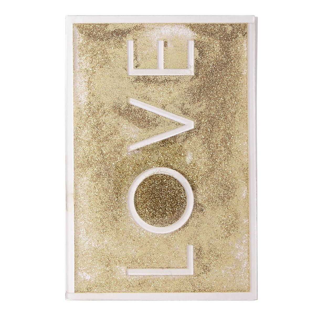 Carte amour love à paillette
