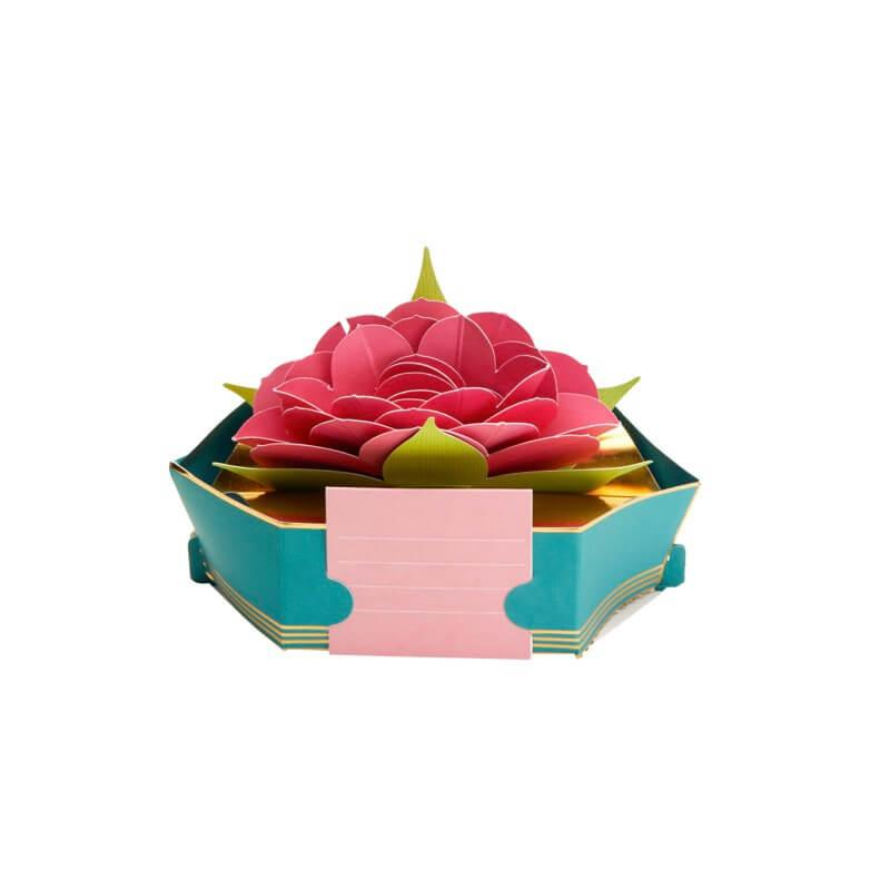 Carte pop up 3d - fleur de lotus