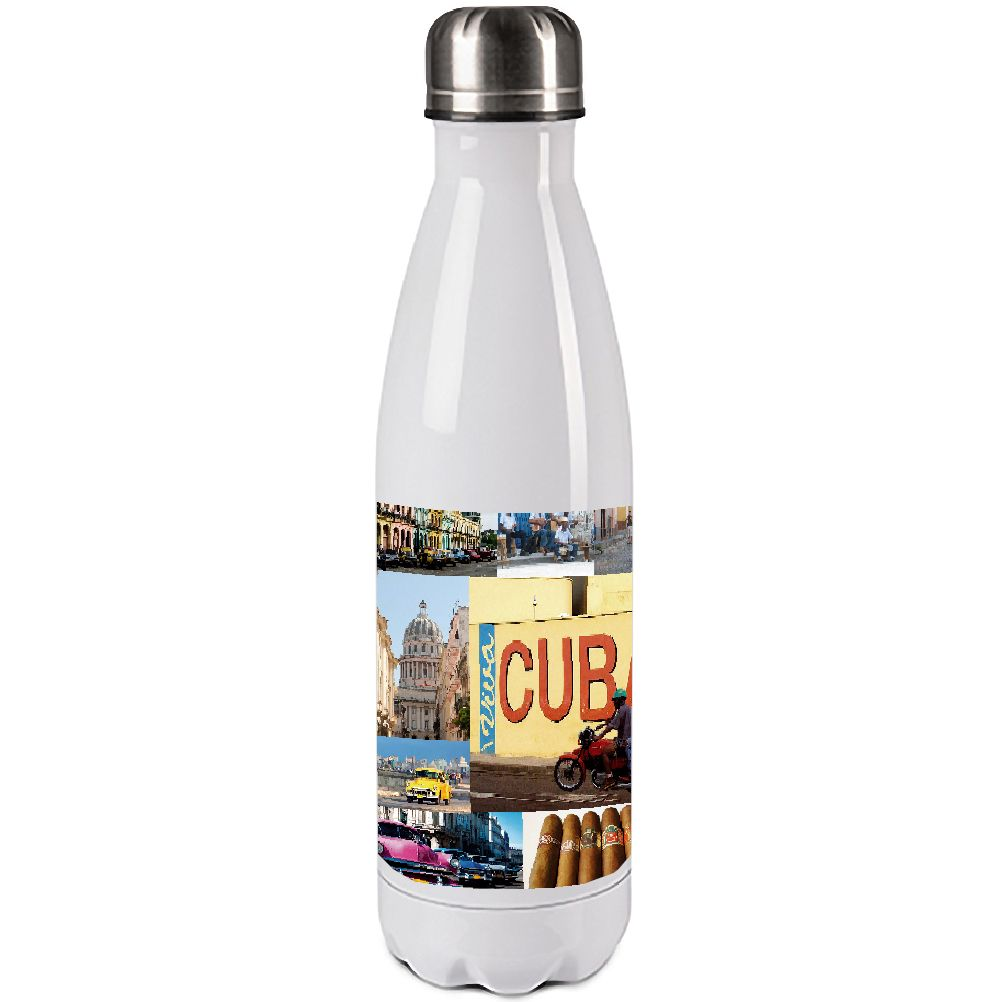 Bouteille isotherme en inox Cuba 500ml (photo)
