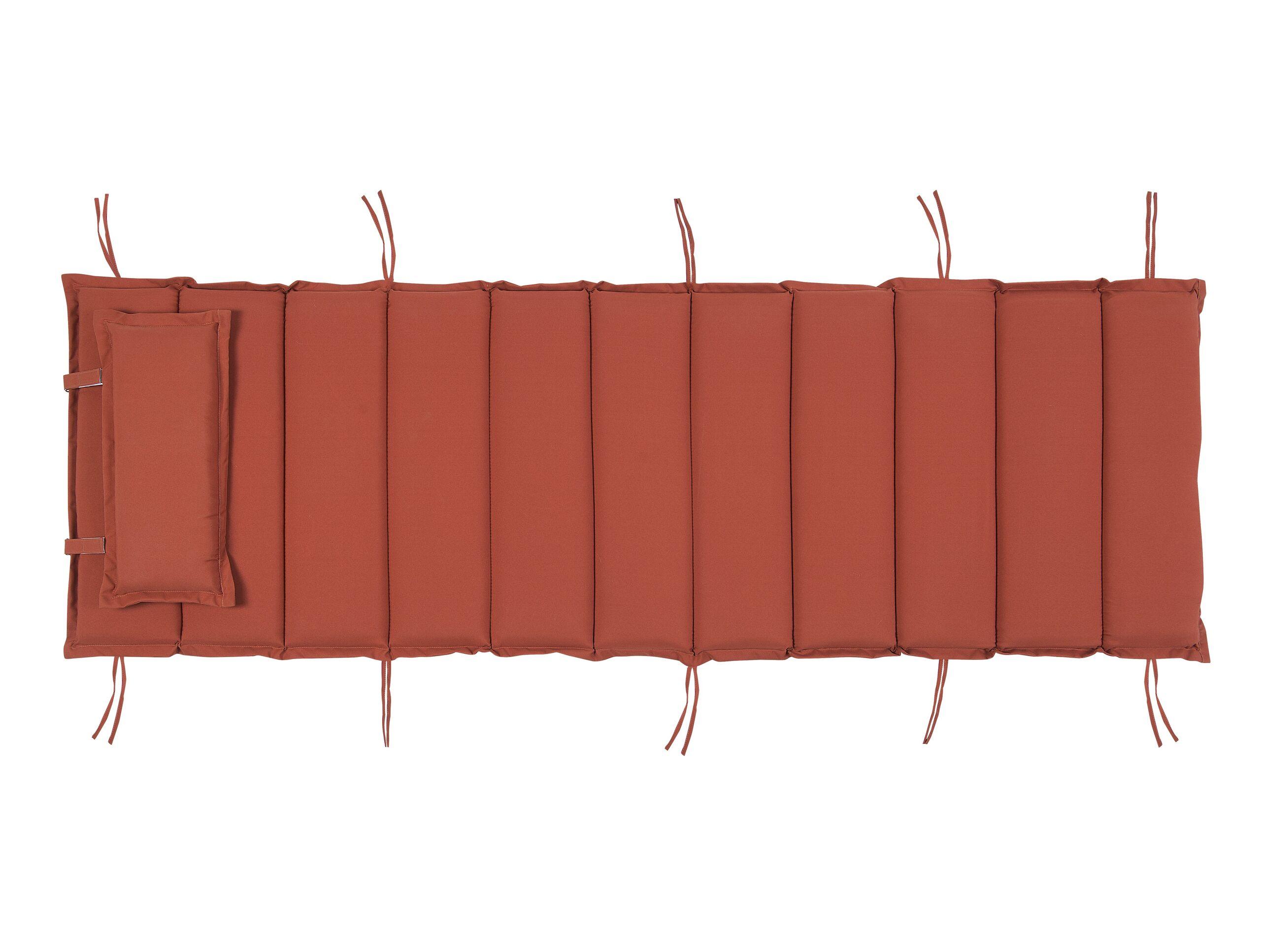 Coussin rouge pour chaise longue L180cm