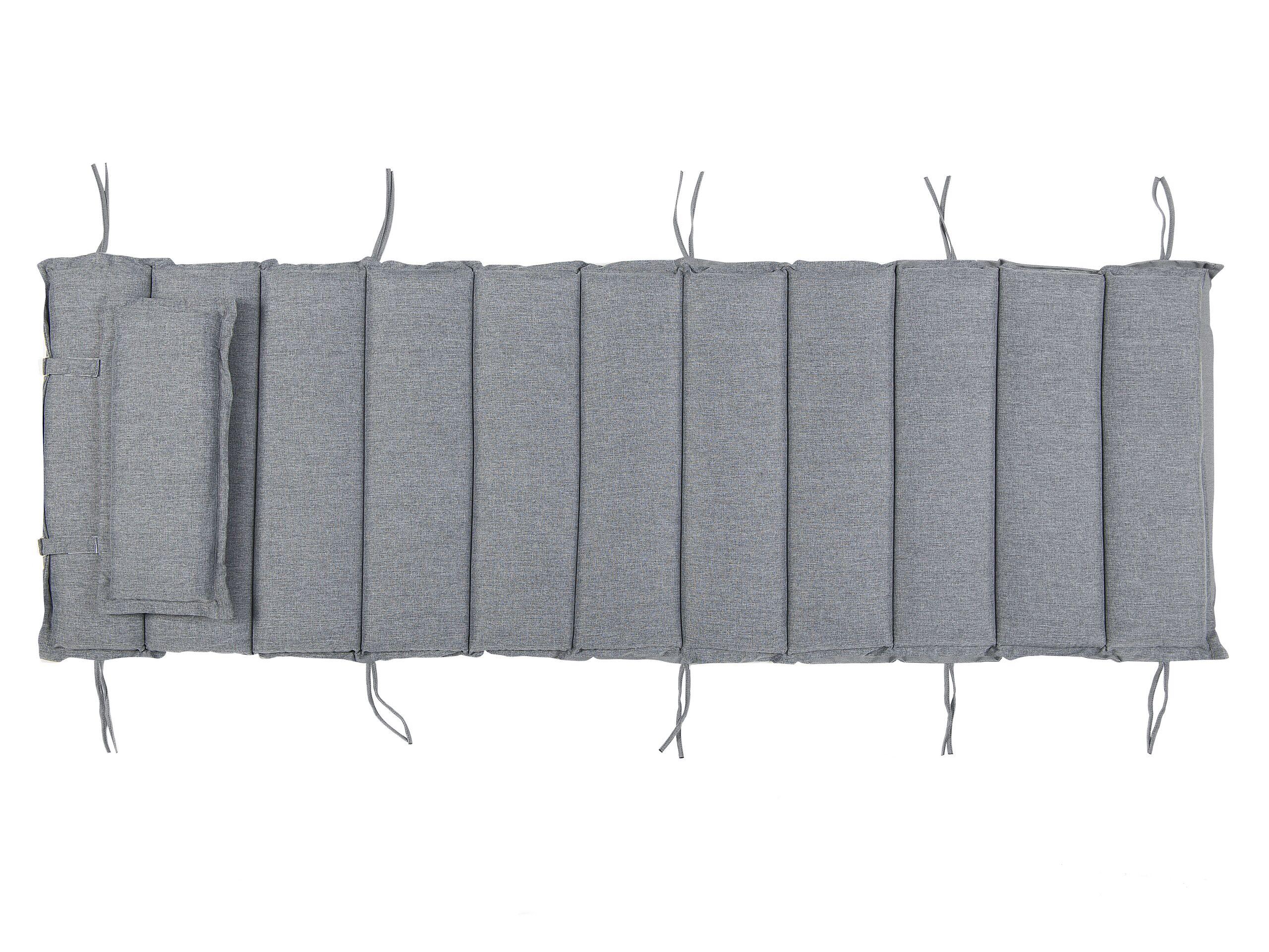 Coussin gris pour chaise longue L180cm
