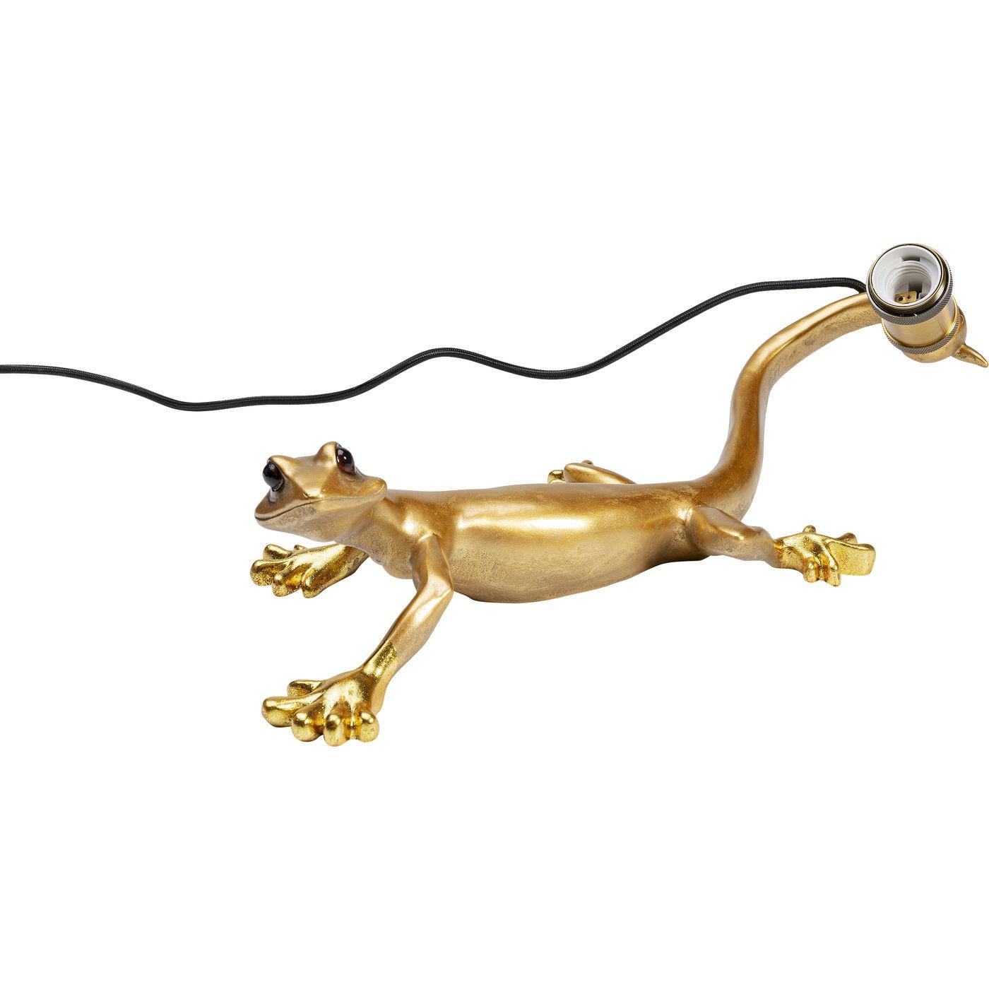 Applique lézard gecko en polyrésine dorée