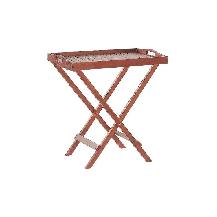 Table compacte en bois d'acacia massif rustique