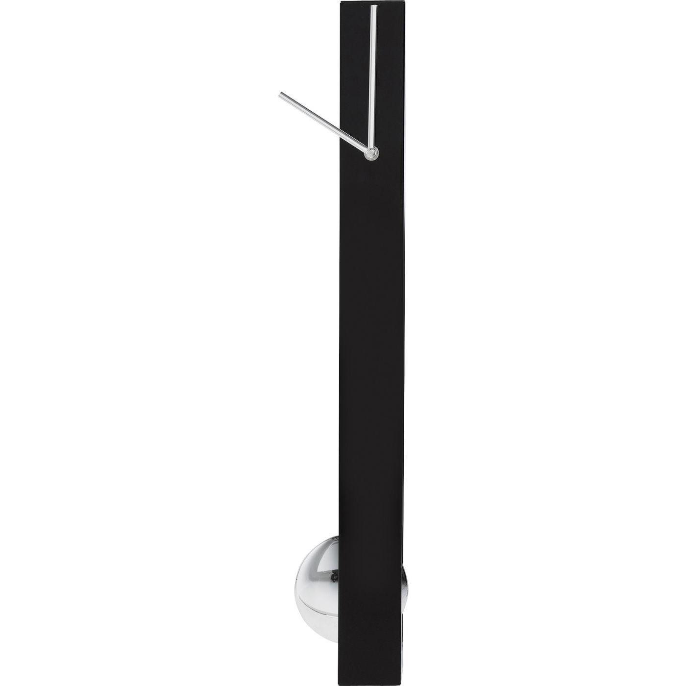 Horloge à balancier en aluminium noir
