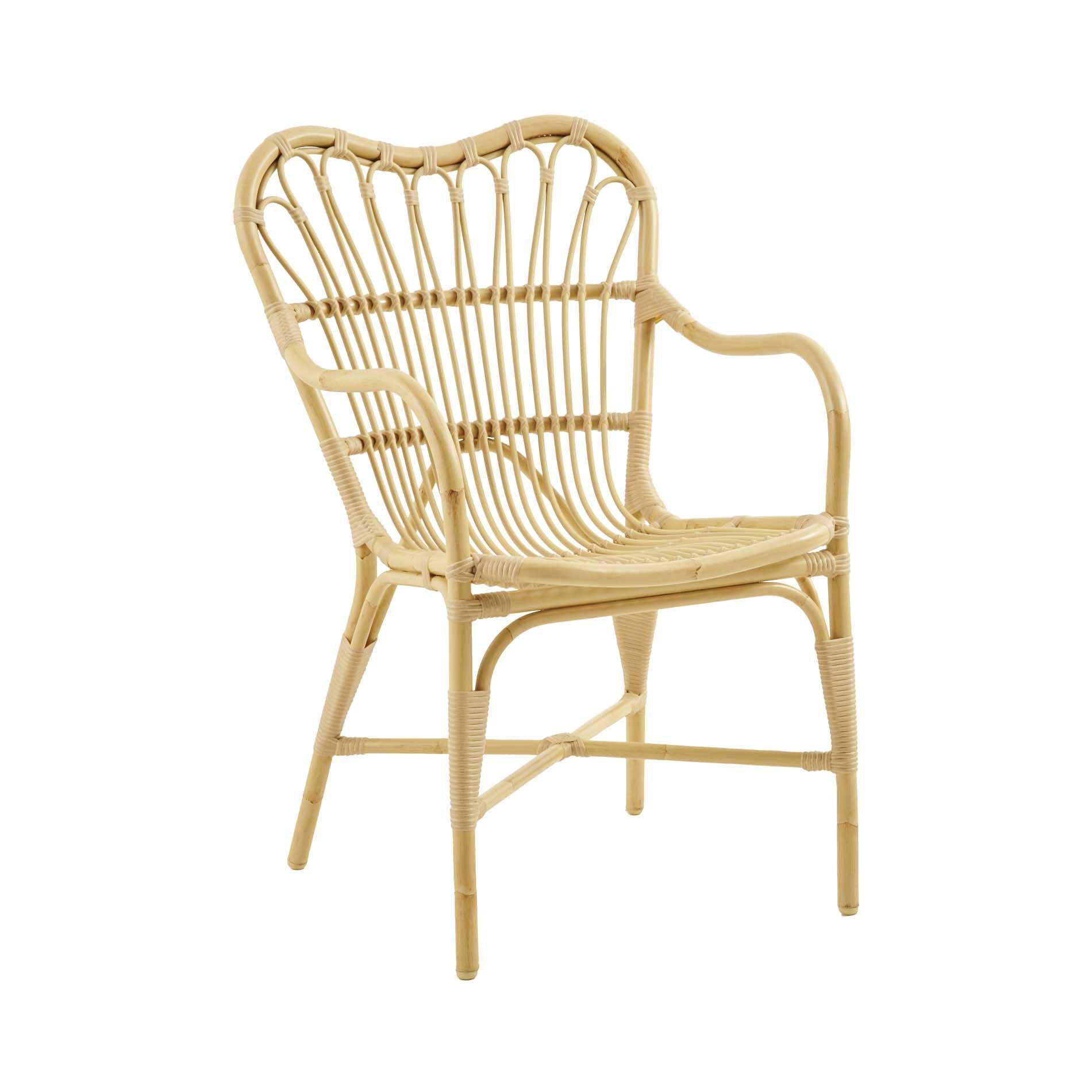 Chaise repas en aluminium et fibre synthétique aspect rotin