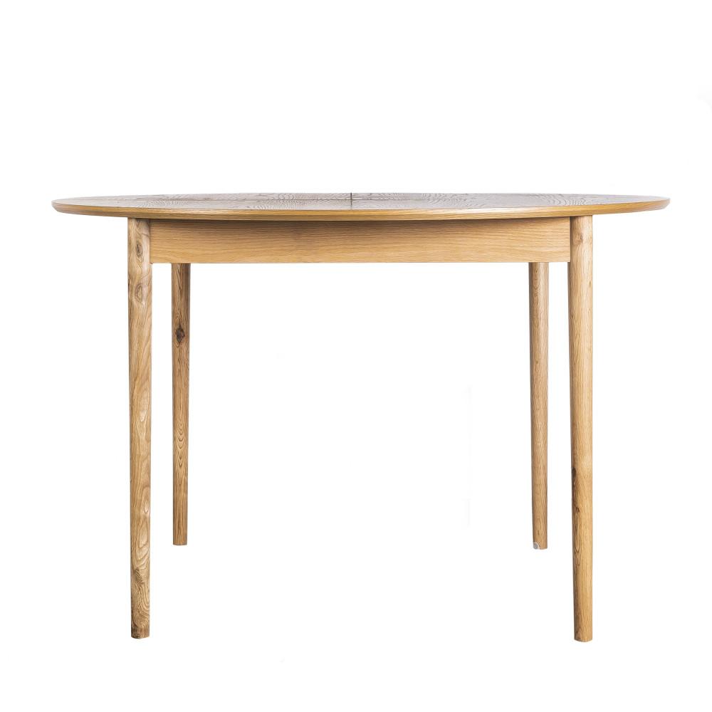 maison du monde Table à manger ronde extensible 120-155x120cm chêne