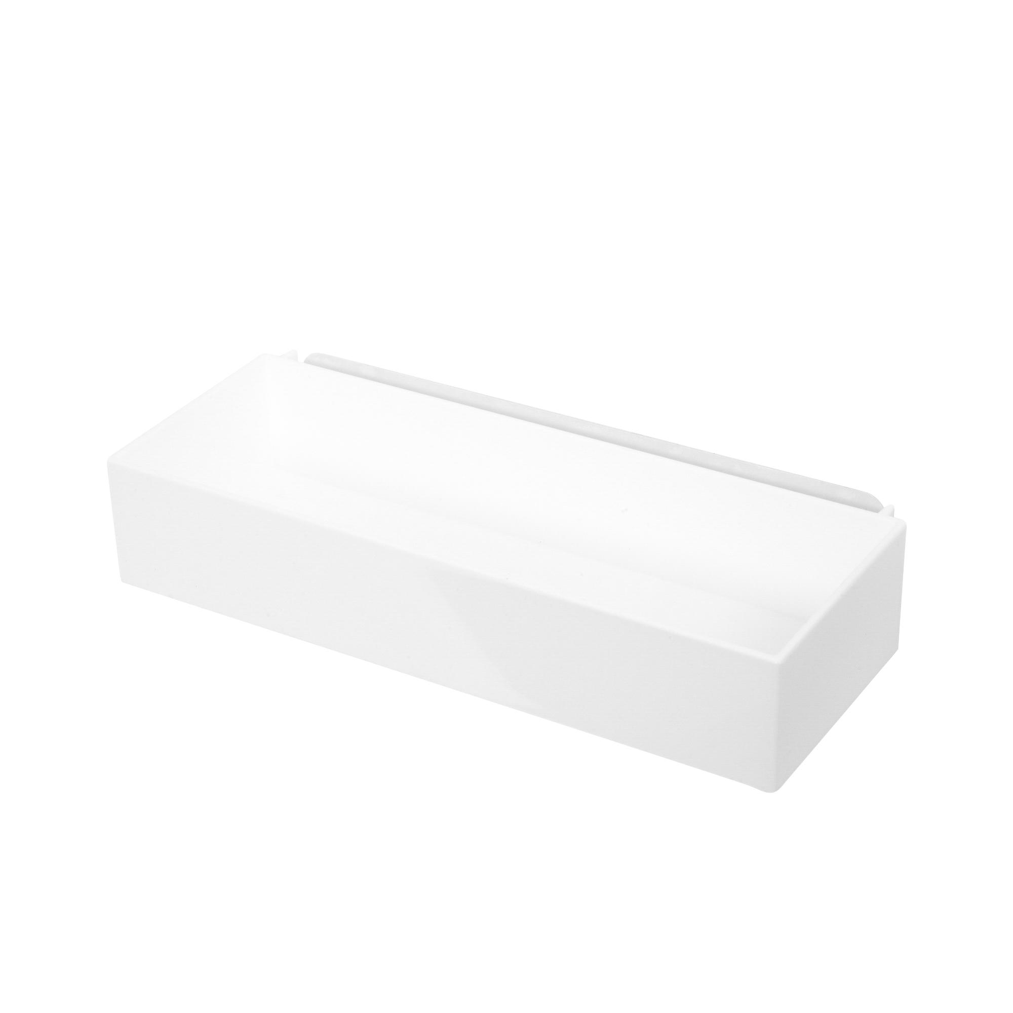 Boîte de rangement auto-adhésive 25,7x10,2cm