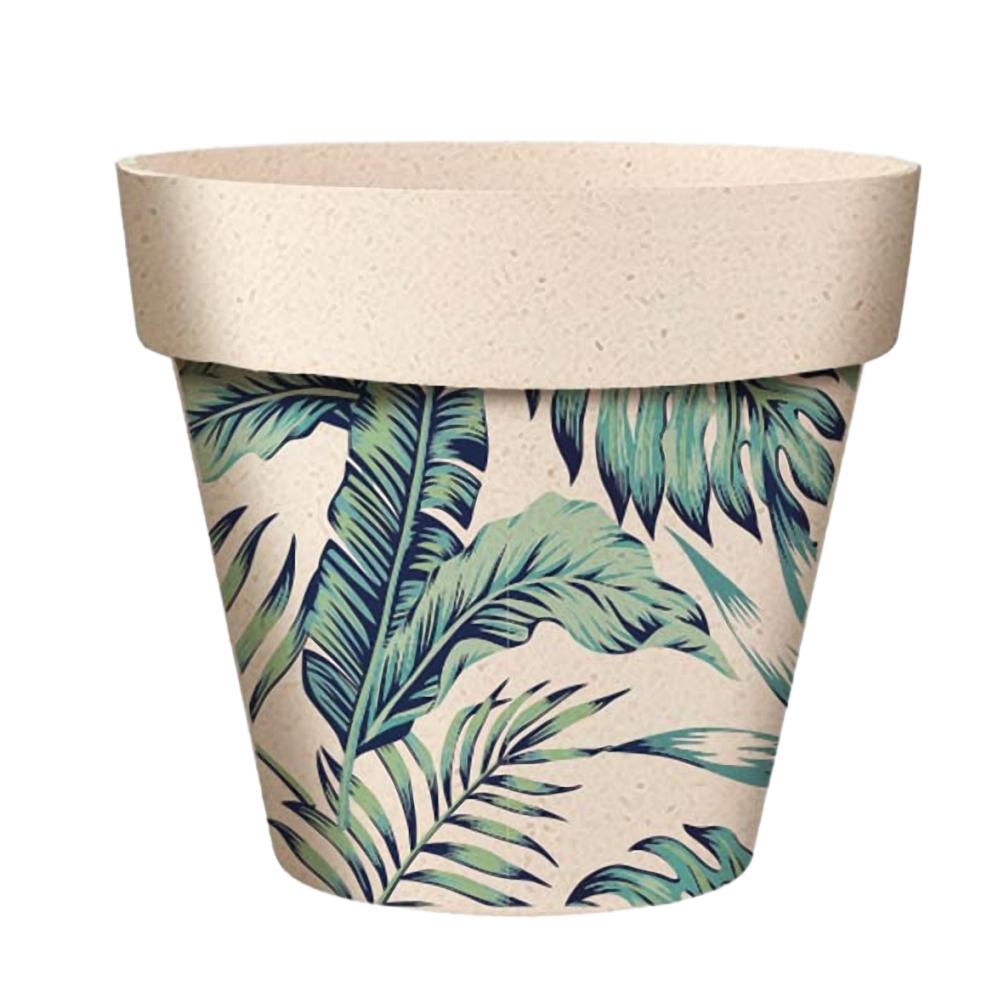 Cache pot en bambou modèle jungle D9,5cm (photo)