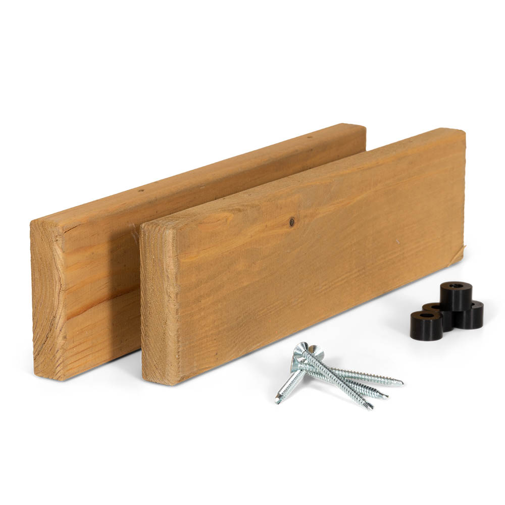 Kit barres latérales avec clés pour bar de balcon en chêne