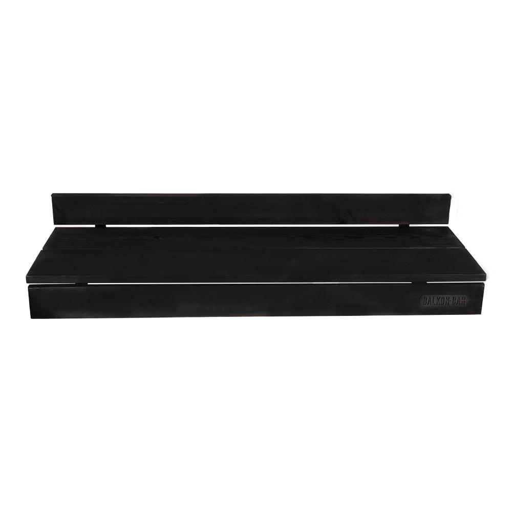 Bar table pour balcon en pin noir balustrade ronde