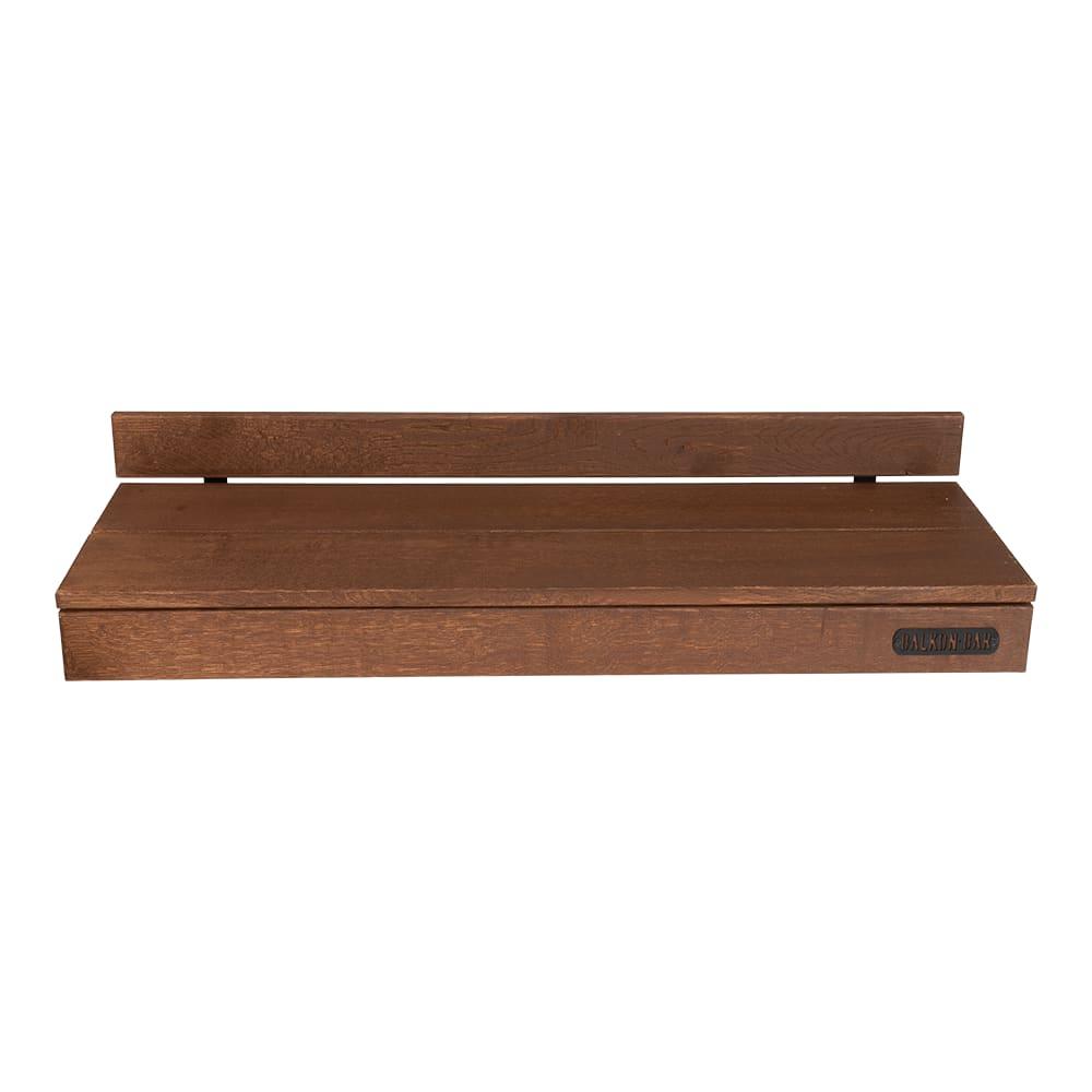 Bar table pour balcon en chêne foncé balustrade ronde