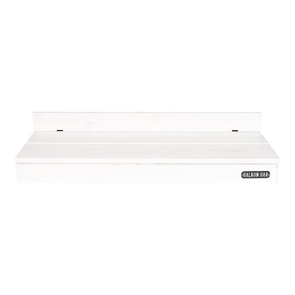Bar table pour balcon en pin blanc balustrade ronde